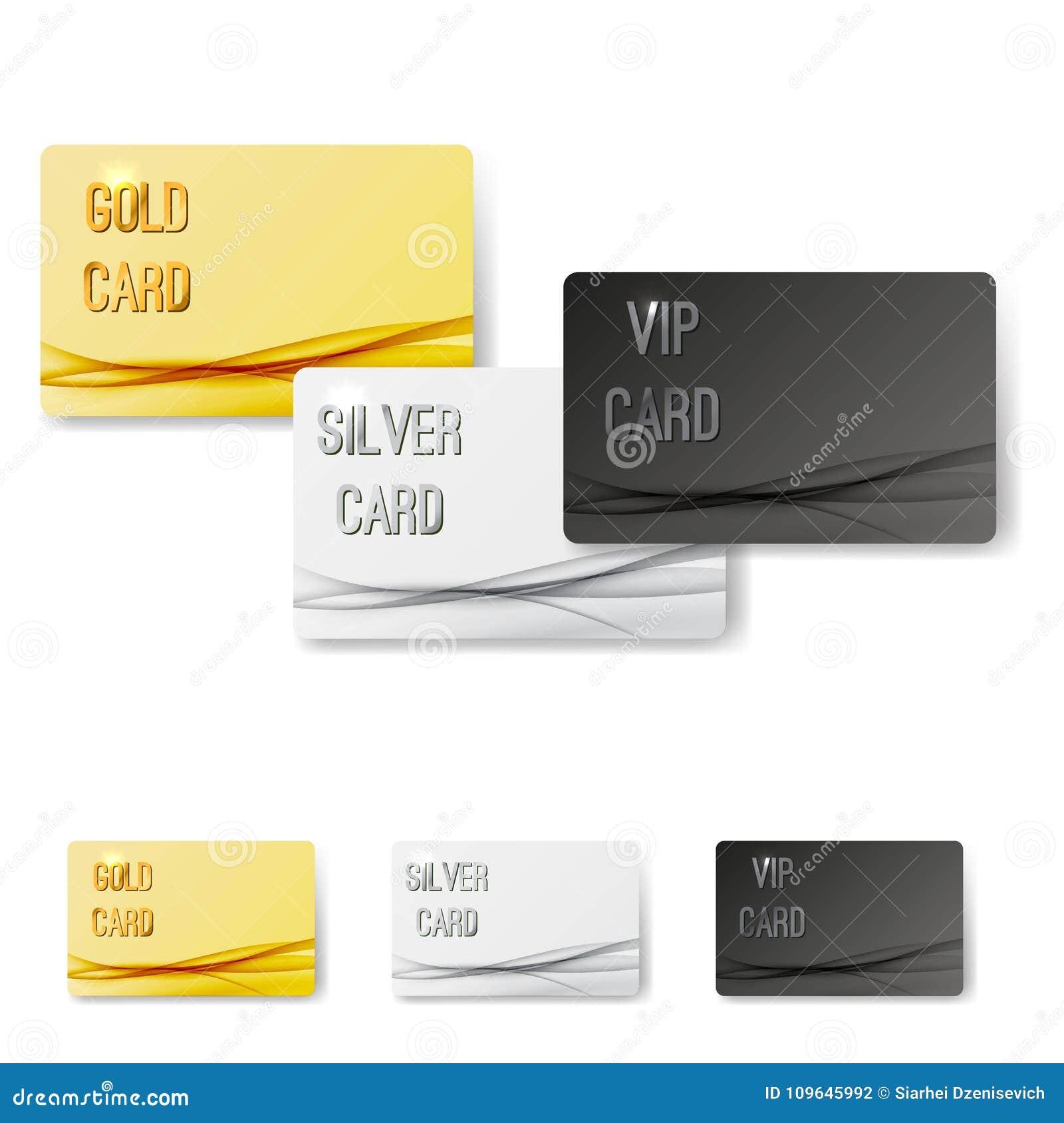 a8105bef38d7 El platino superior de la plata del oro del vip del miembro carda la  colección