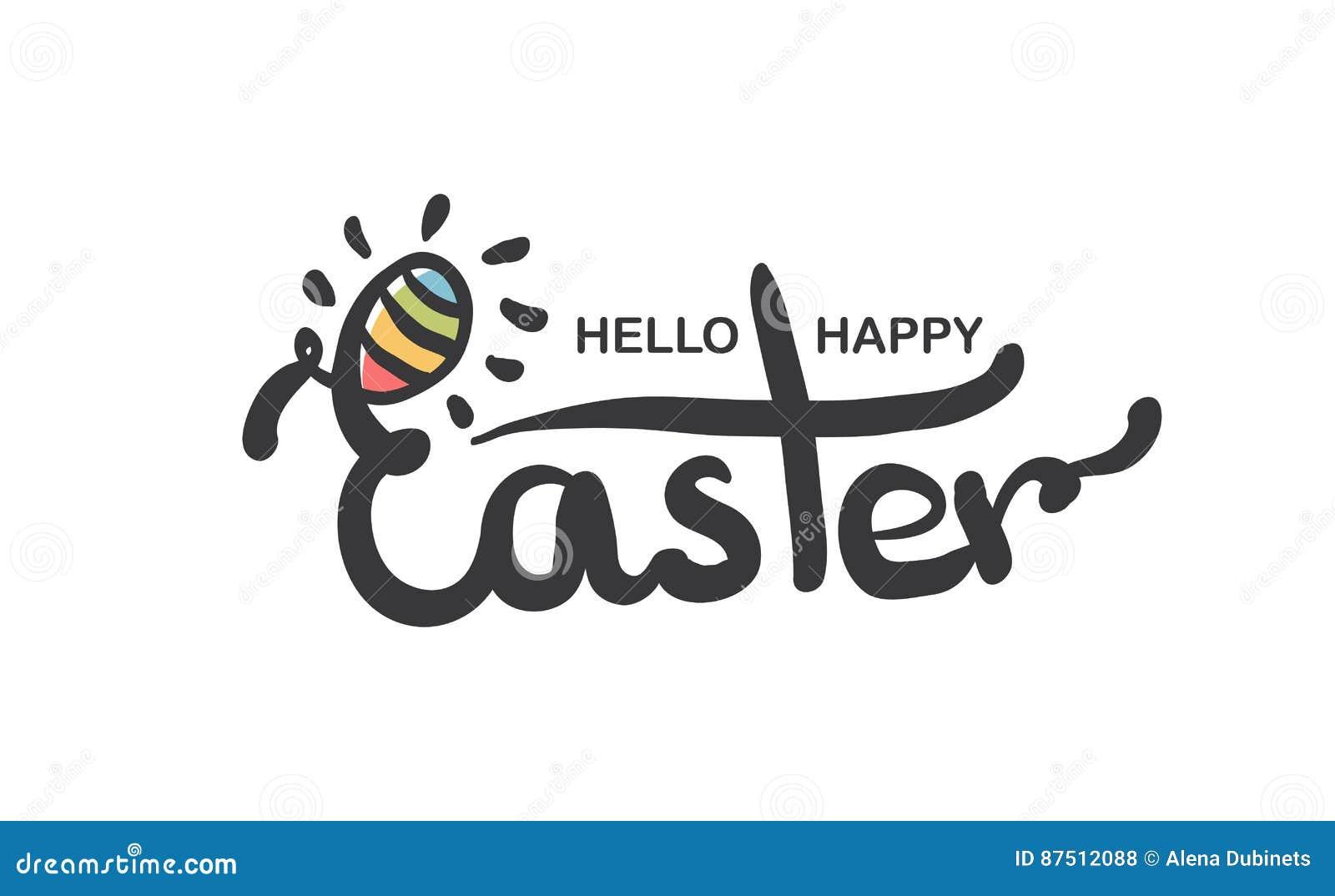 El Poner Letras Feliz De Pascua Moderno Frases Escritas Mano