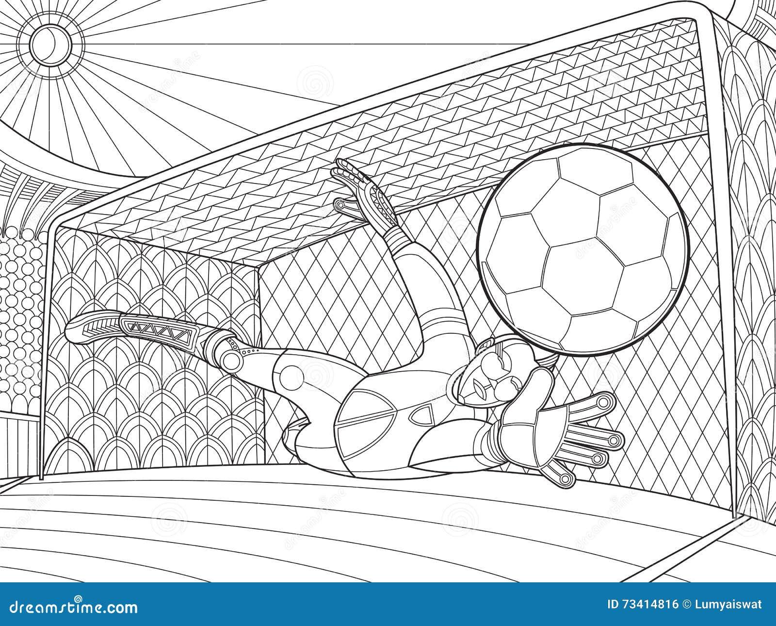 Dibujos De Porteros De Futbol Stunning Futbol Dibujo: El Portero Del Fútbol Golpeó El Ejemplo Del Vector Del