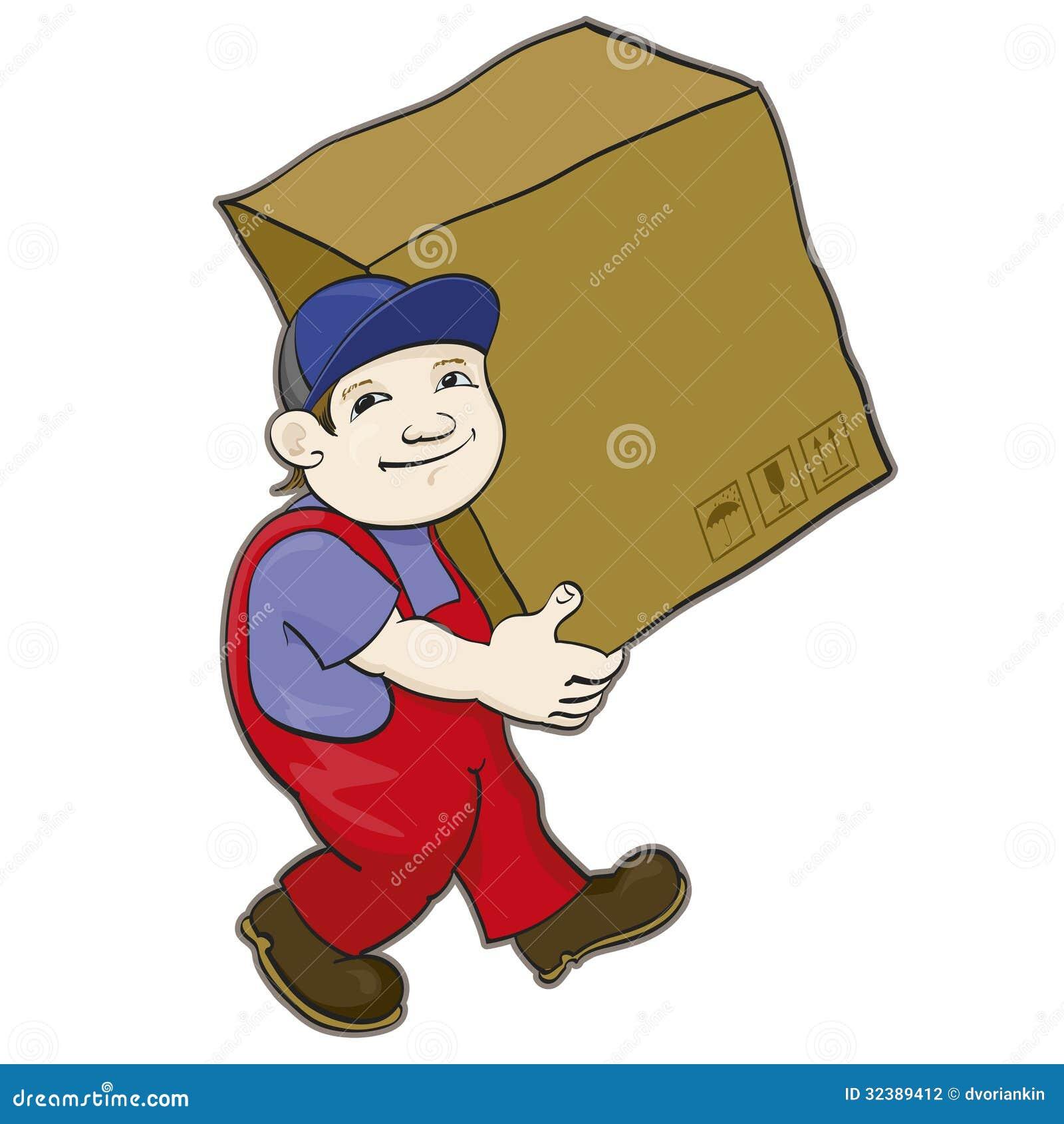 El portero lleva una caja