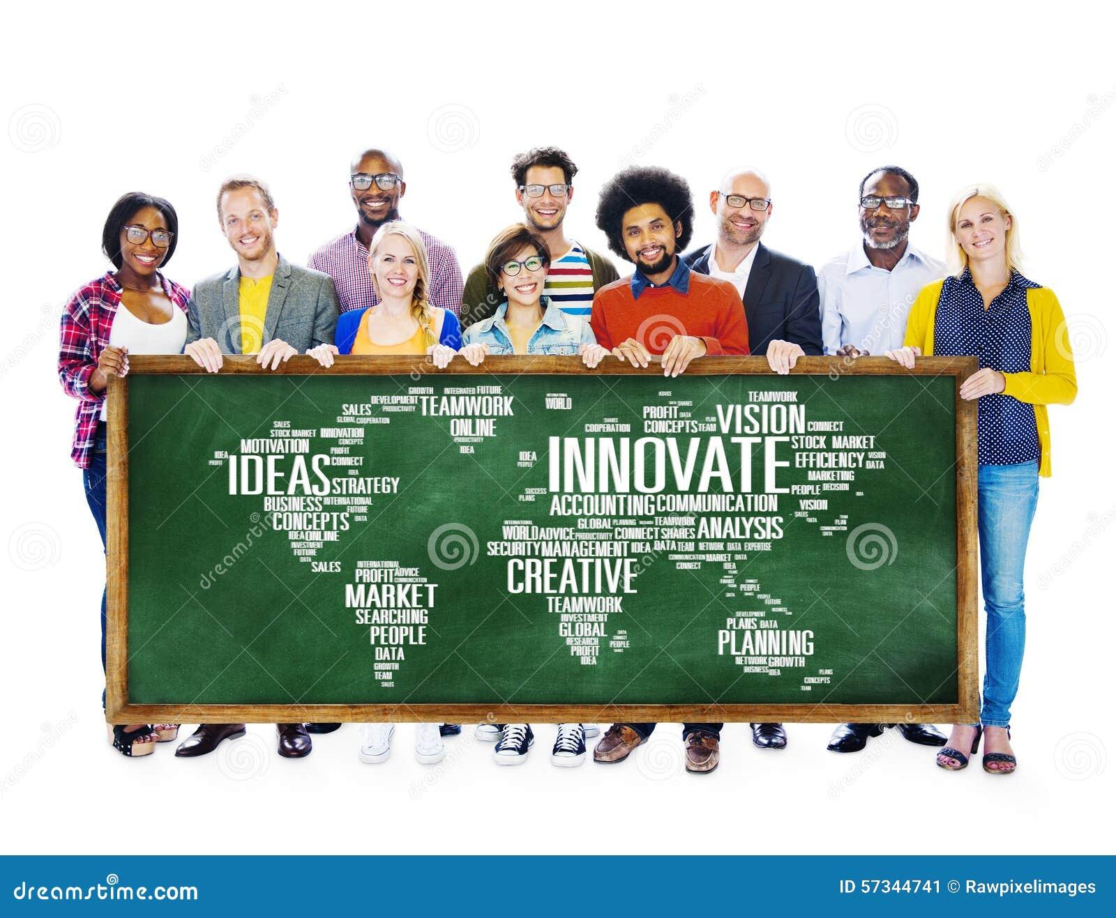 El progreso de las ideas de la creatividad de la inspiración de la innovación innova Concep