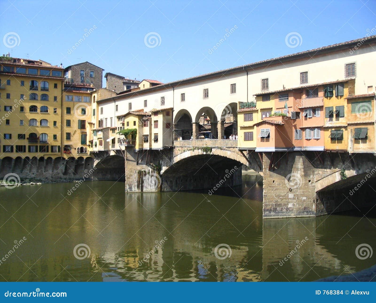 El puente famoso en Florencia