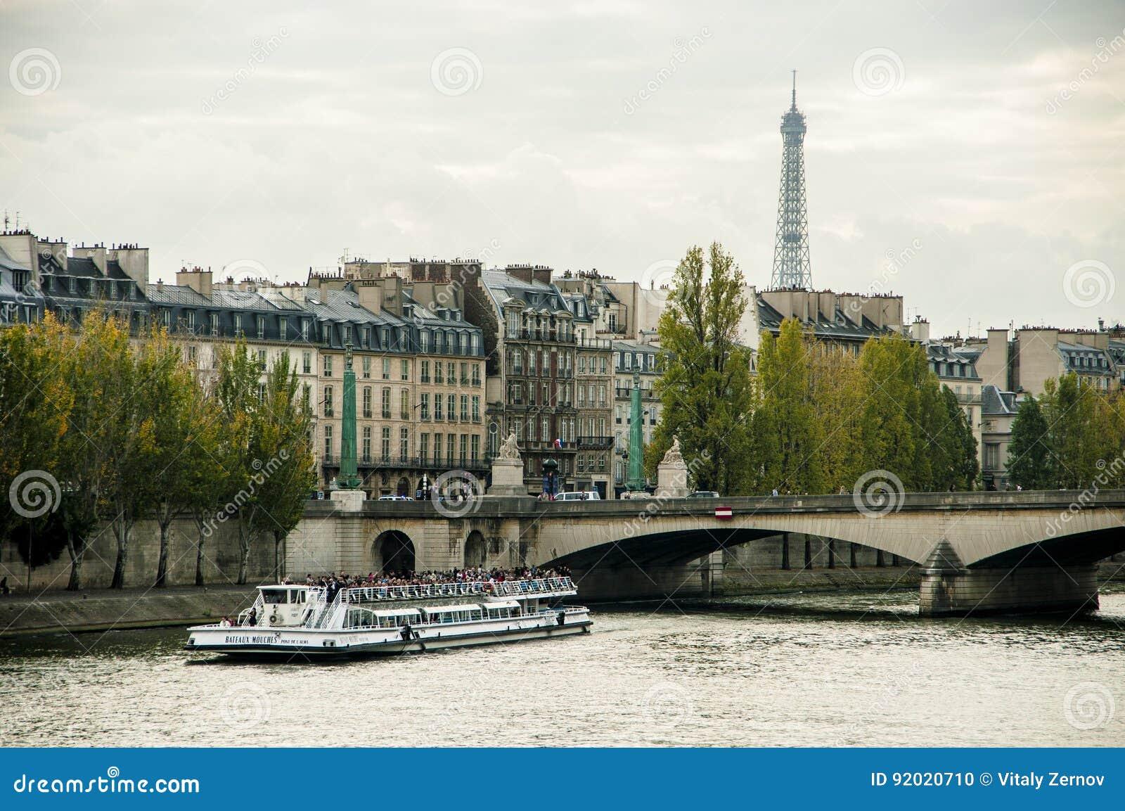 El puente a través del río el Sena