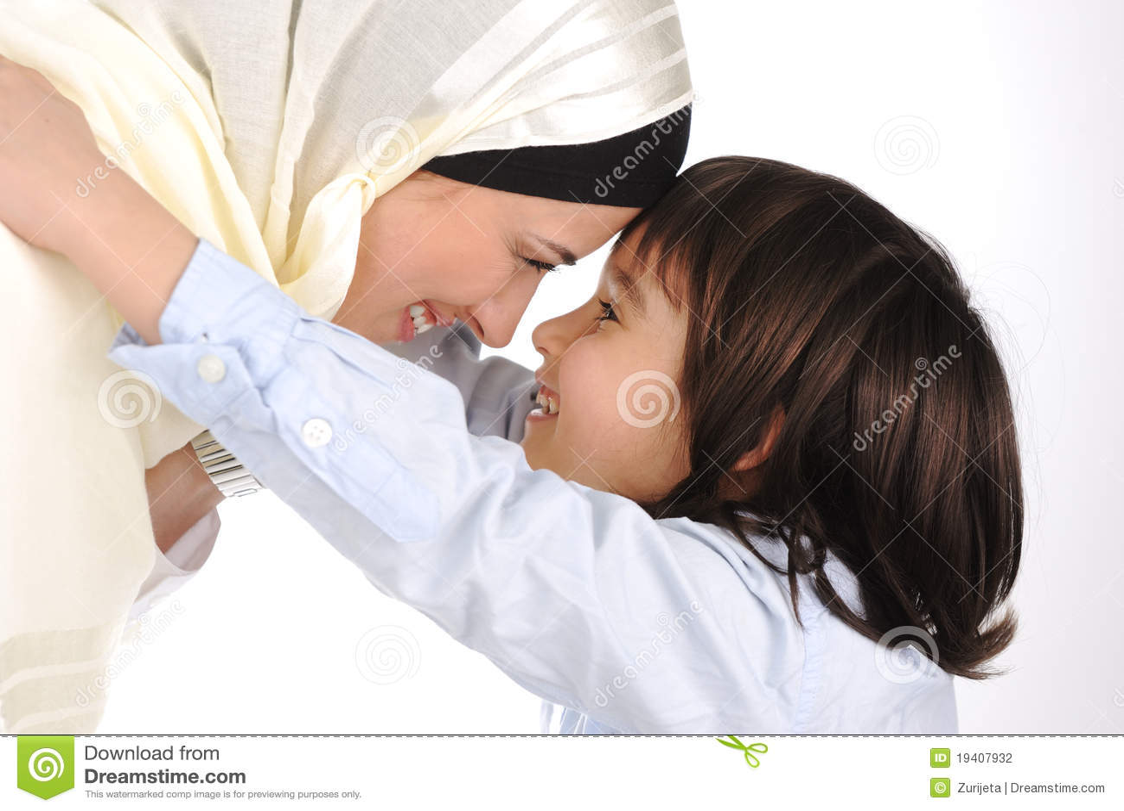 El querer musulmán de la madre y del hijo