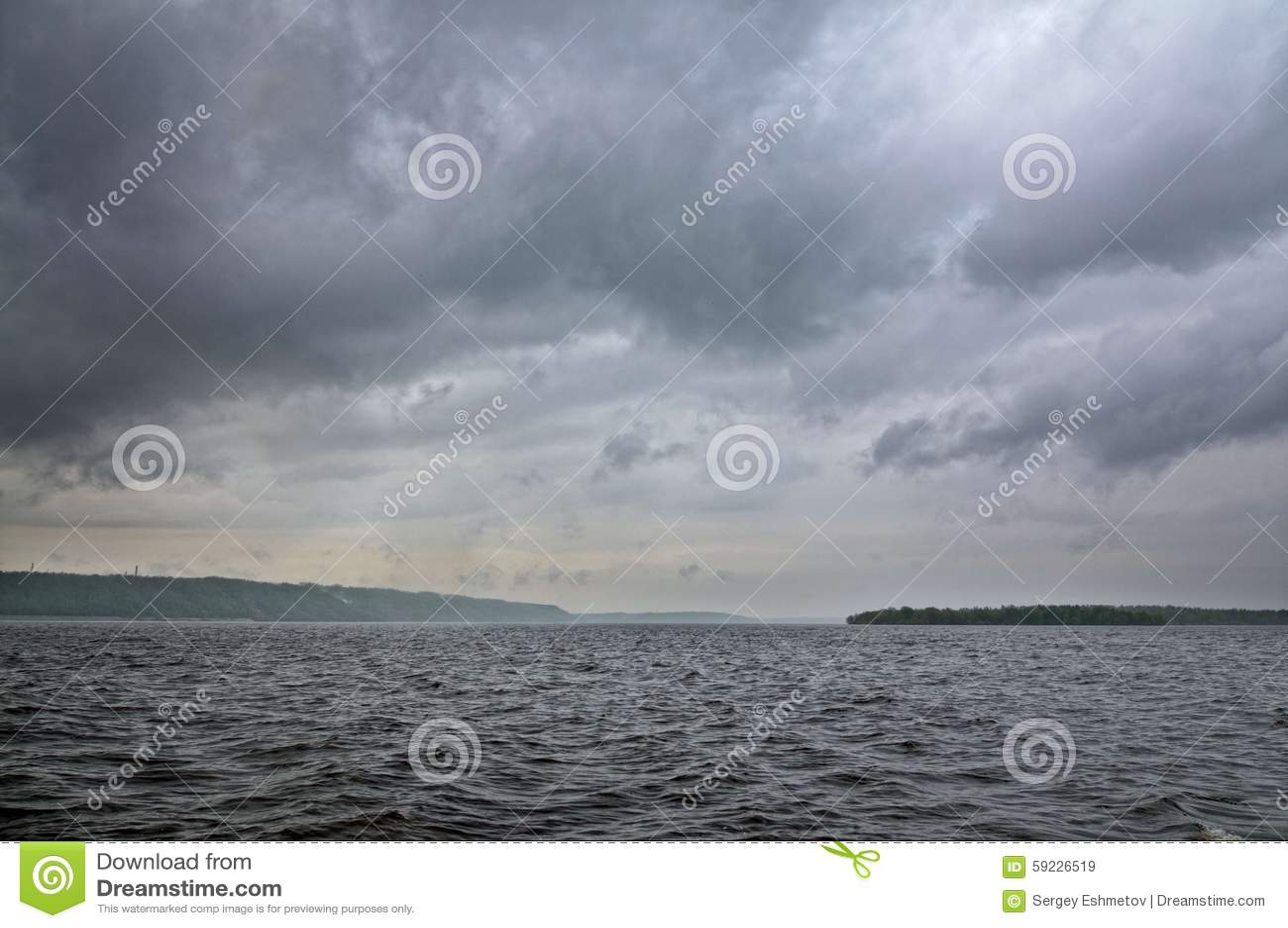 Download El río Volga imagen de archivo. Imagen de desastre, nube - 59226519