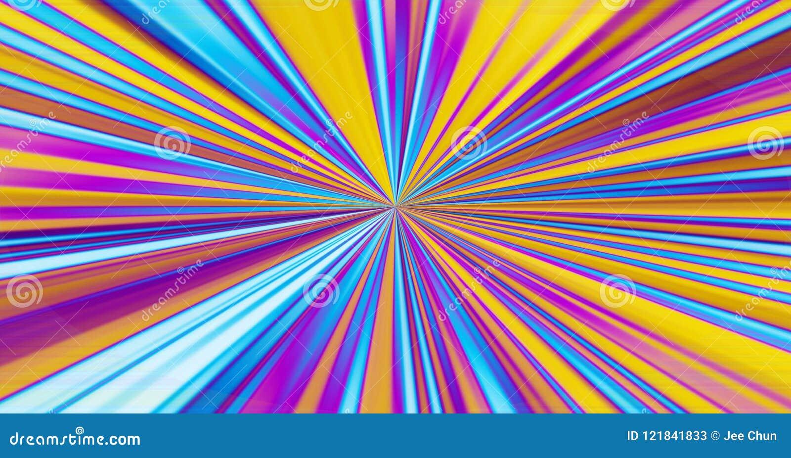 El rayo abstracto rayado colorido del fondo de la falta de definición estalló stri gráfico