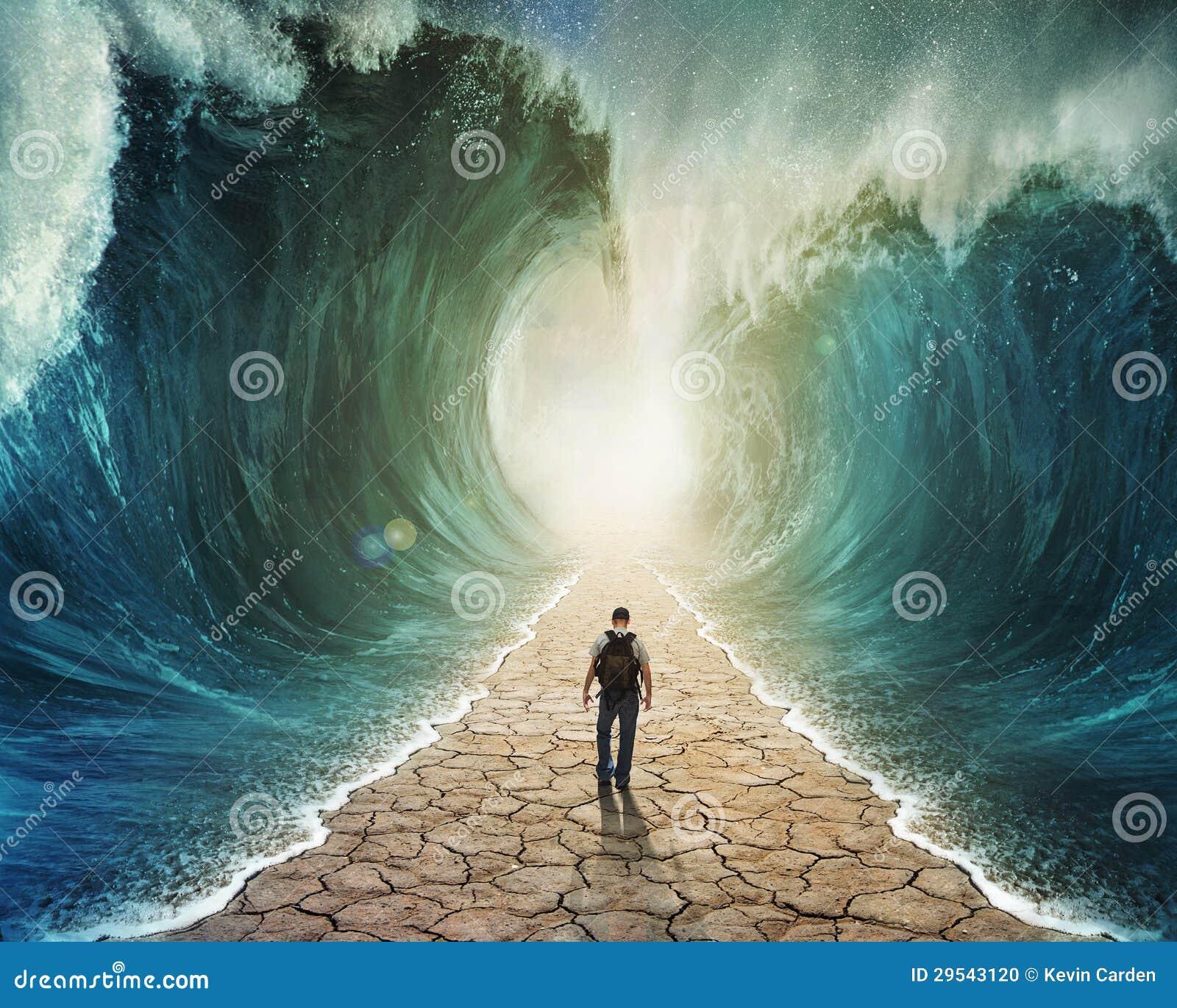 El recorrer a través del agua