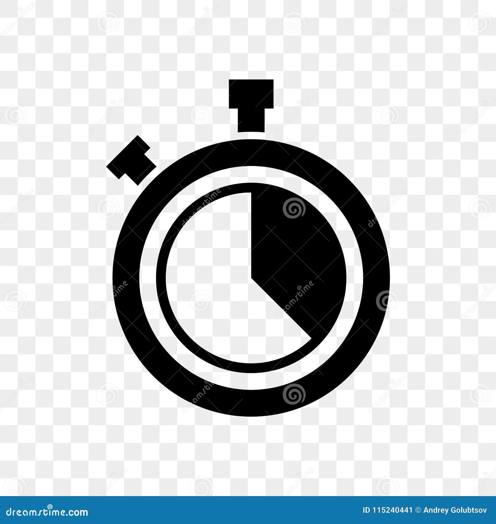 El reloj de la cuenta descendiente del cronómetro abotona el icono del vector