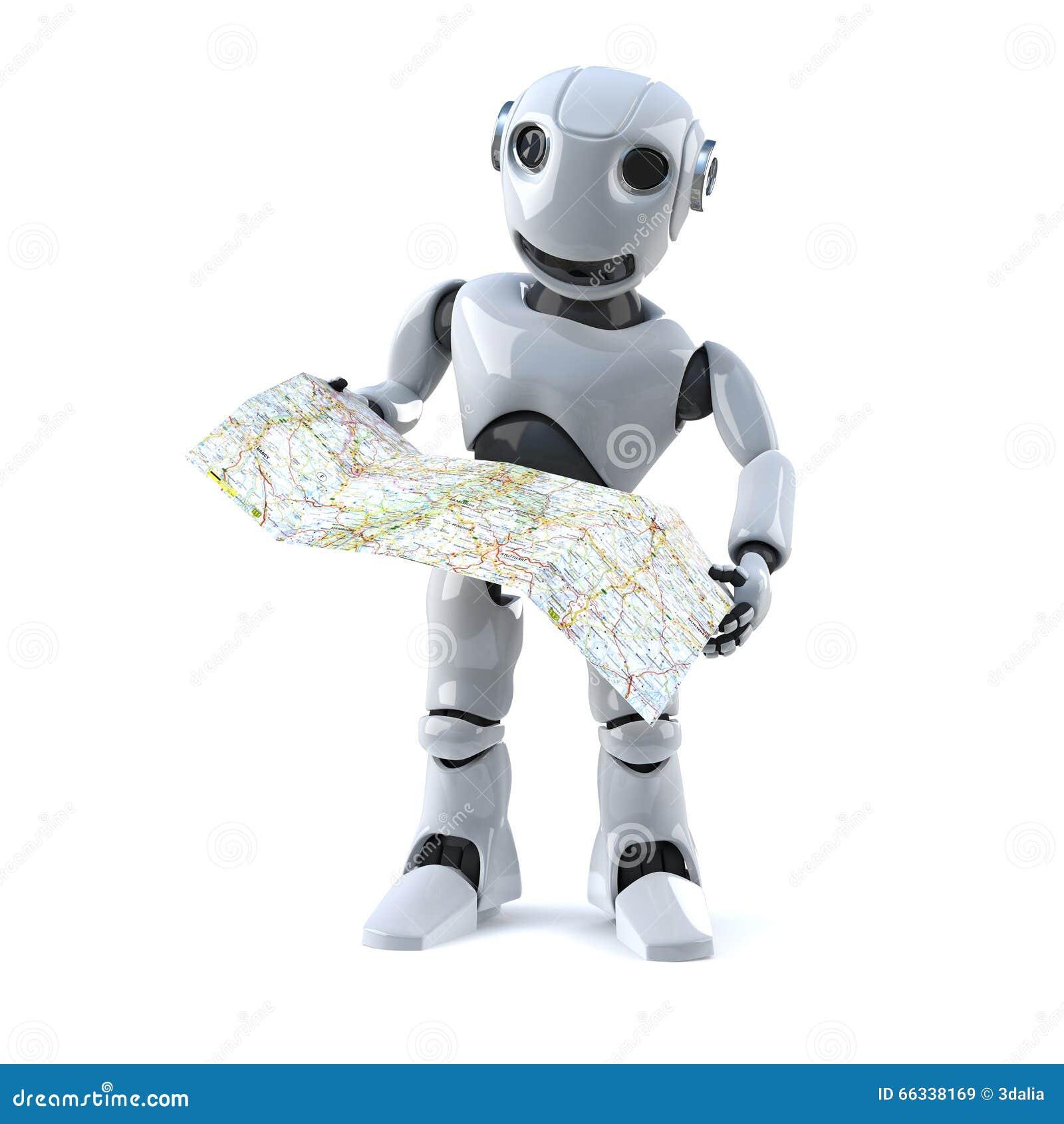 El robot 3d navega usando un mapa