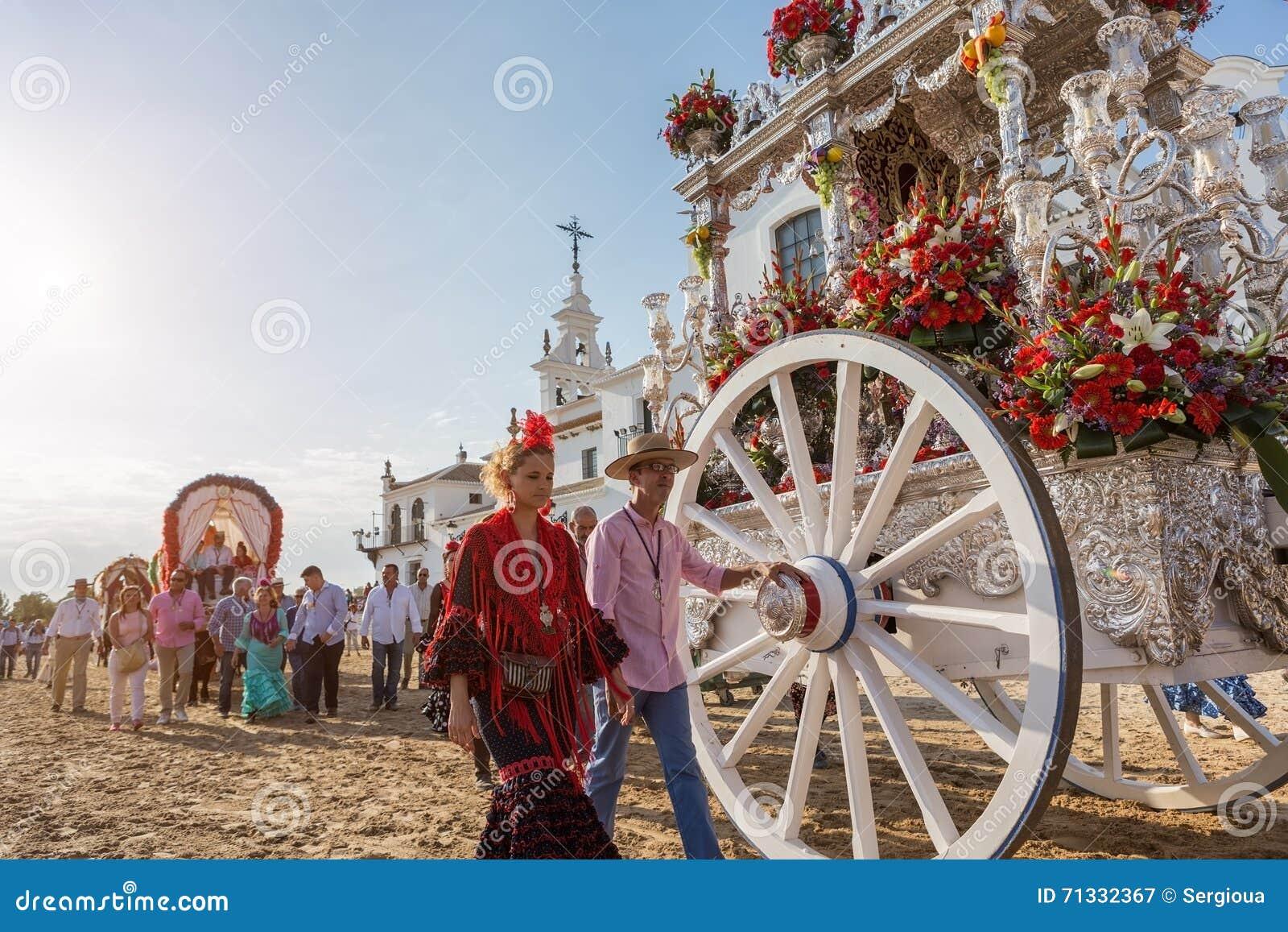 El ROCIO, ANDALUCIA, SPANIEN - MAJ 22: Romeria