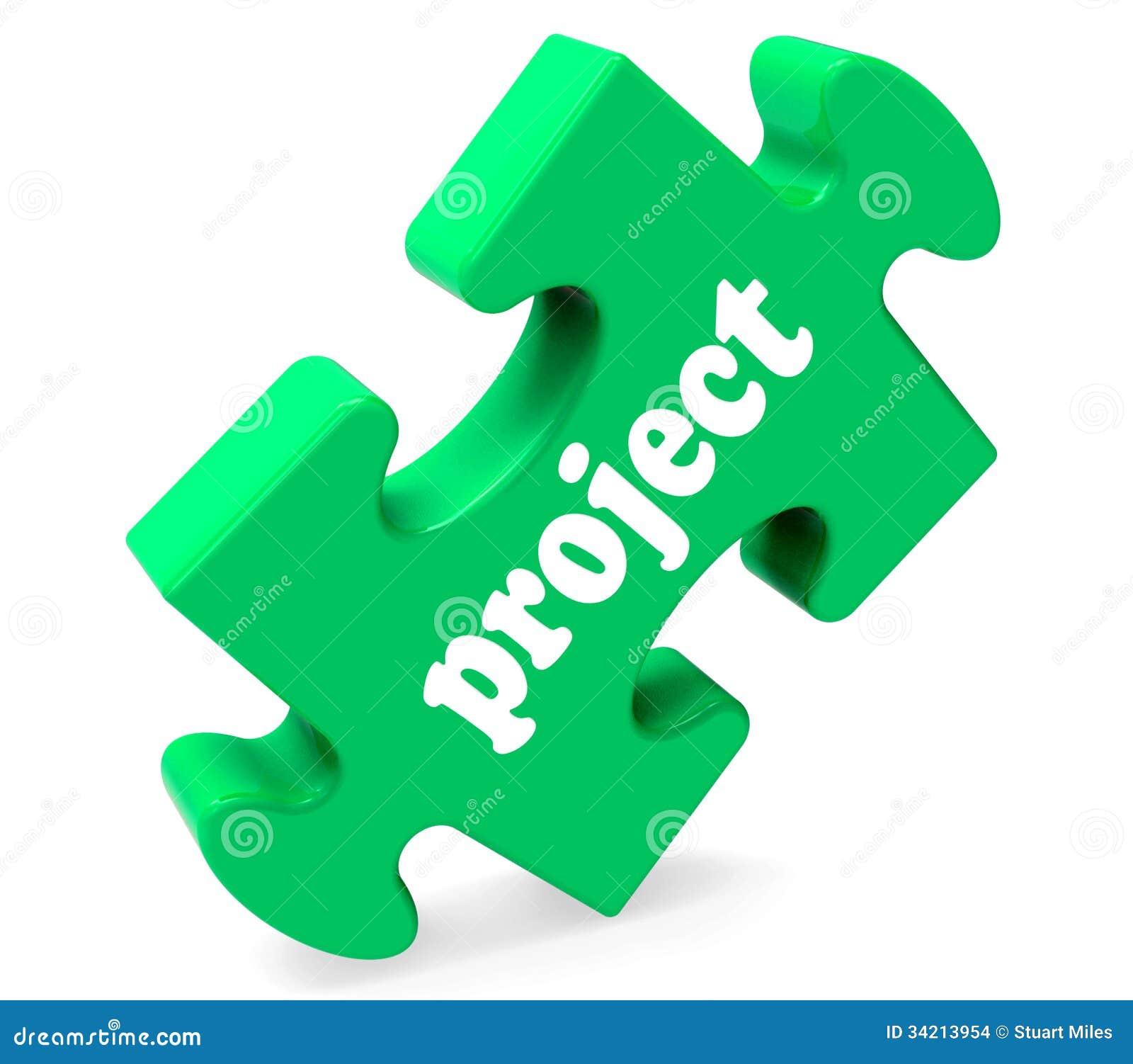 El rompecabezas del proyecto muestra plan o tarea del planeamiento