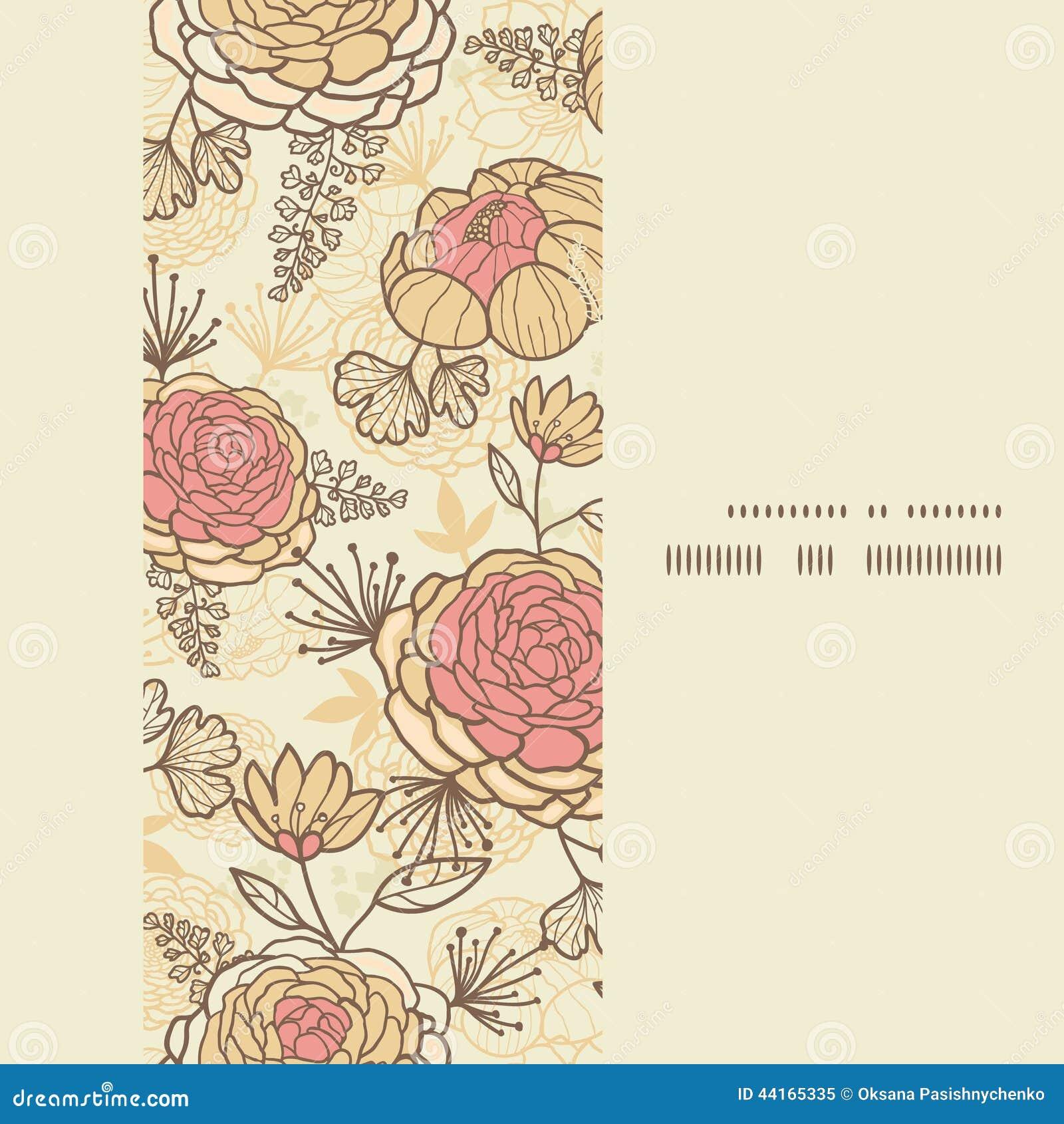 El Rosa Marrón Del Vintage Florece El Marco Vertical Inconsútil ...