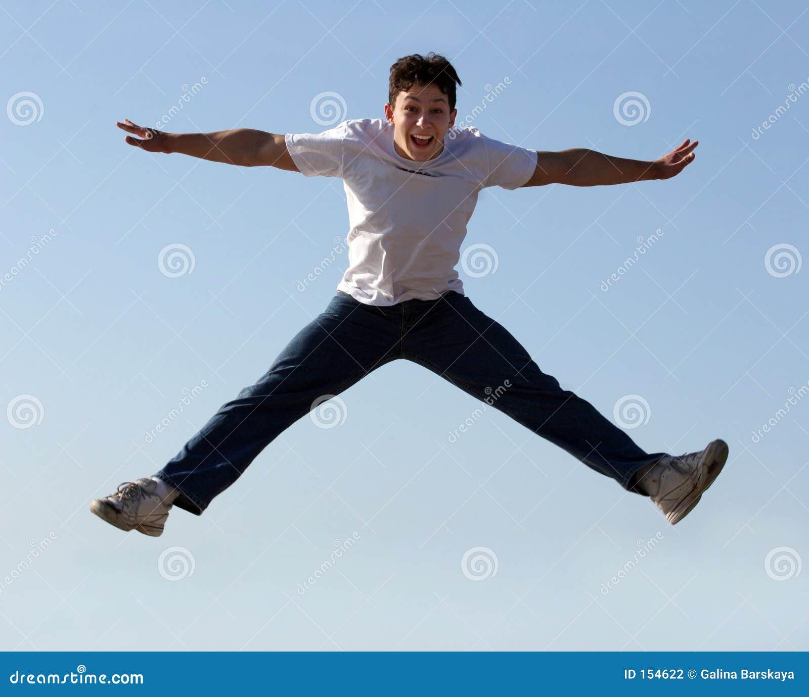 El salto del muchacho