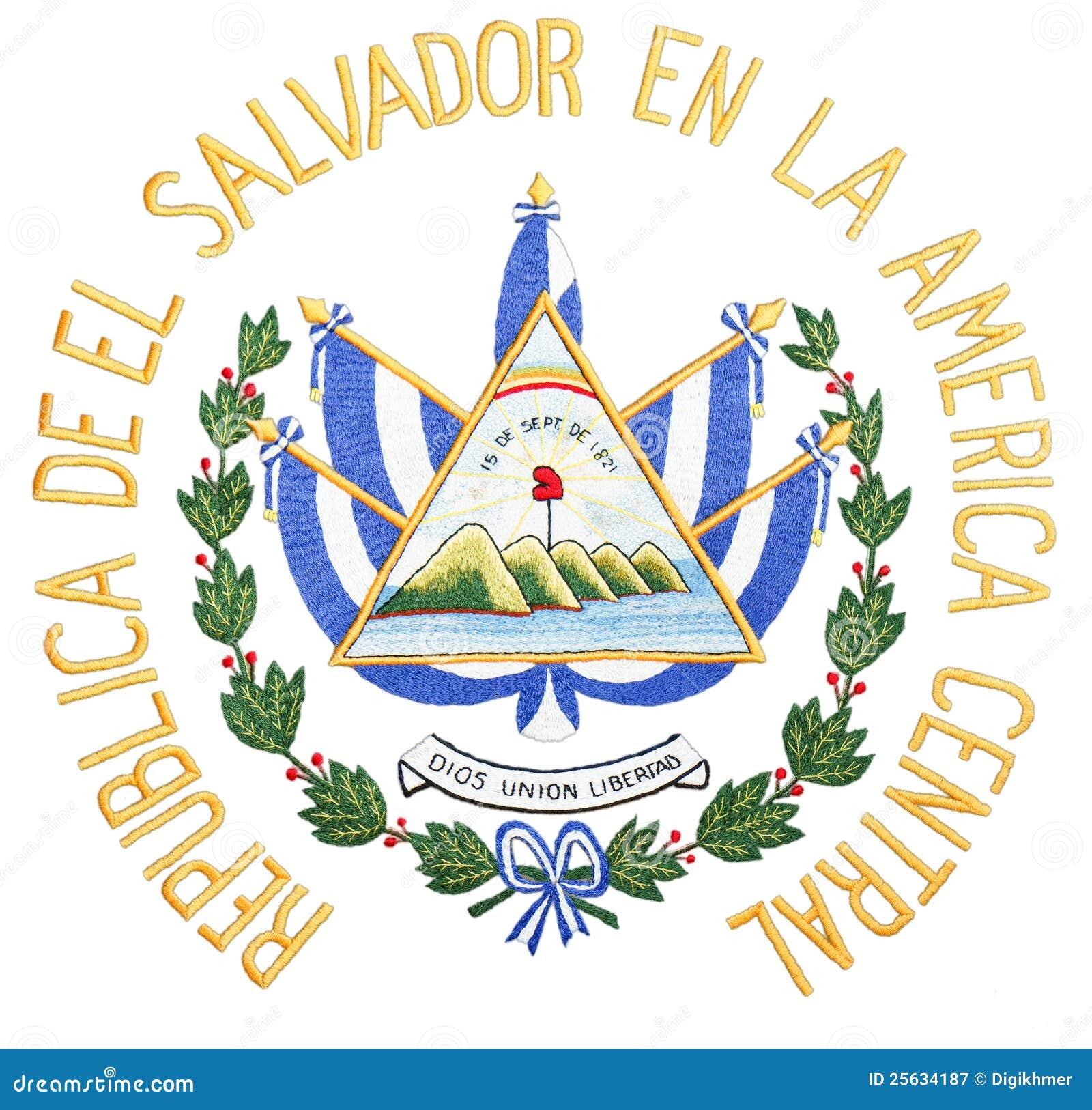 El Salvador Coat Of Arms Royalty Free Stock Photography