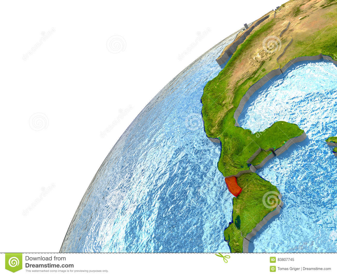 El Salvador On Earth Stock Illustration Image - El salvador earth map