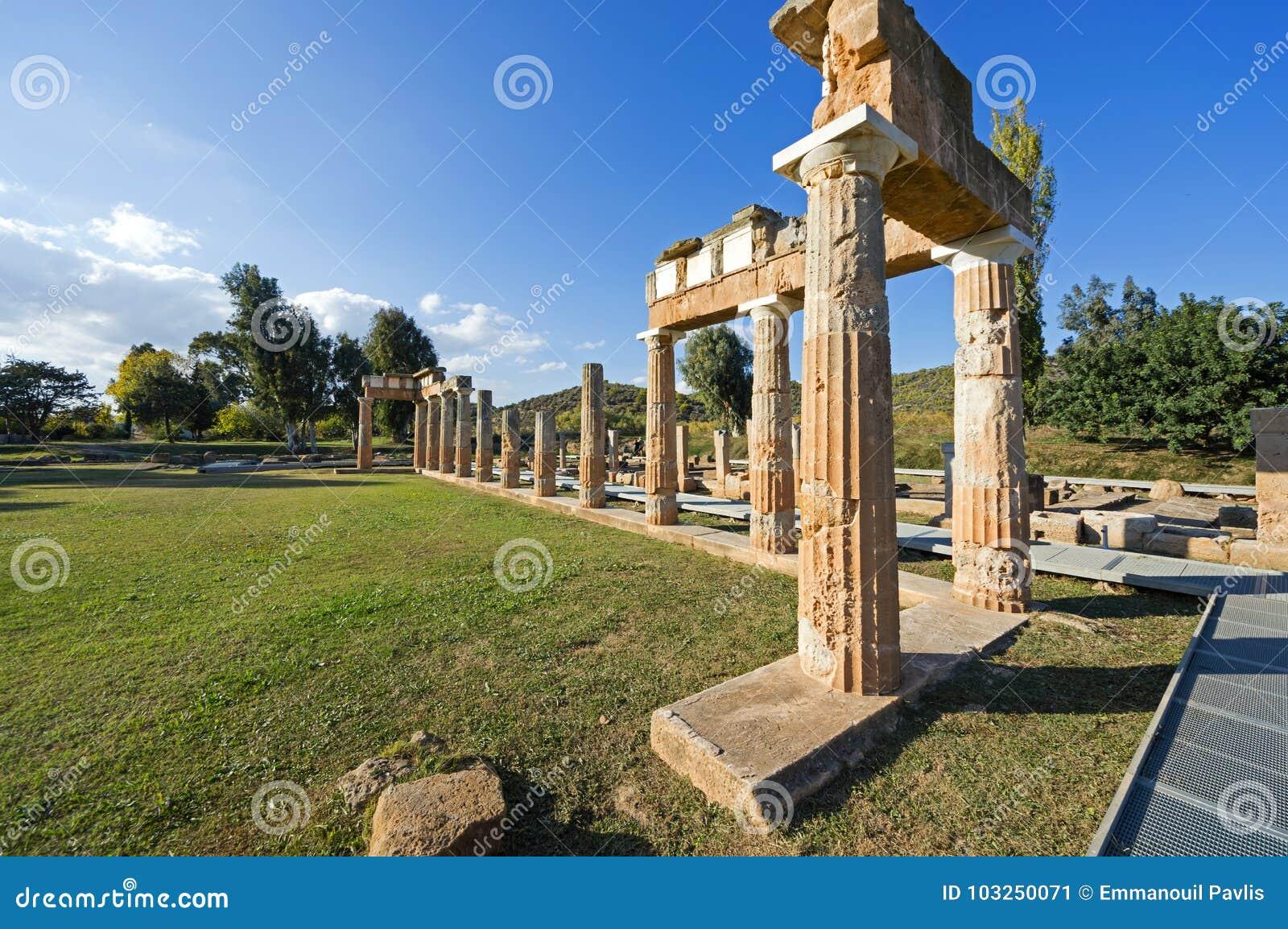 El santuario de Artemis en Brauron, Atica - Grecia