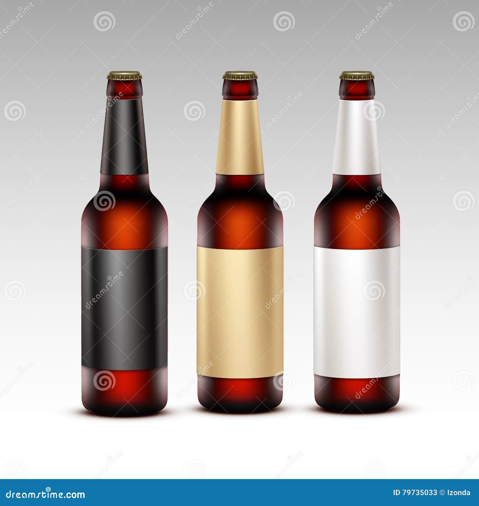 El sistema de Brown de cristal cerrado embotella la cerveza oscura