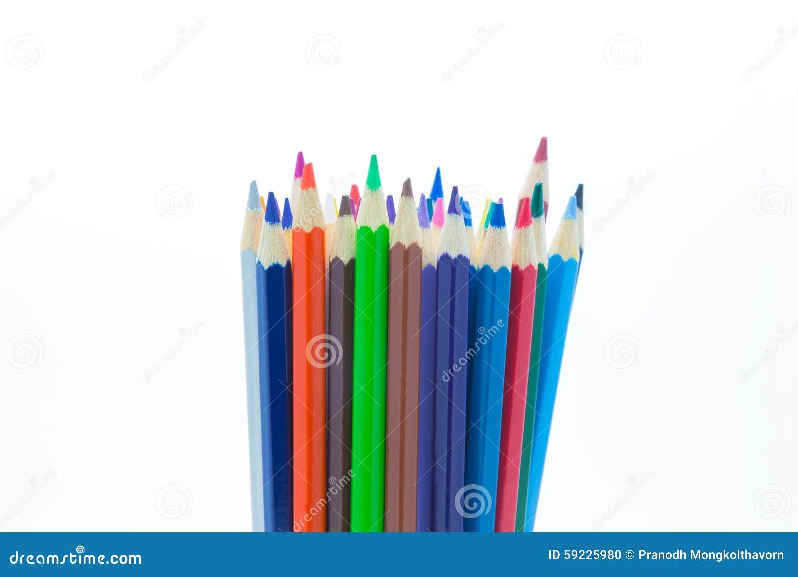 Download El Sistema De Colores De Madera Dibujó A Lápiz En El Fondo Blanco Foto de archivo - Imagen de multicolor, drenaje: 59225980