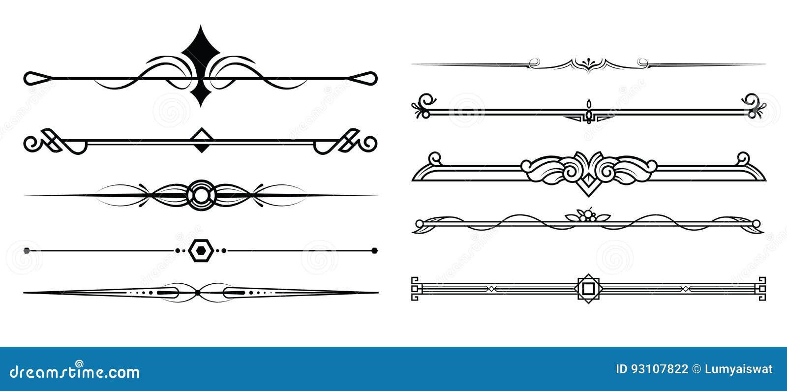 El sistema de elementos, de la frontera y de la página decorativos gobierna el marco