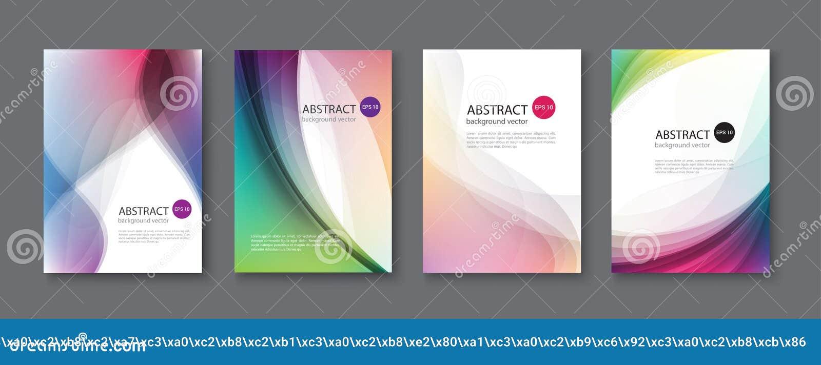 El sistema de fondos abstractos del vector con la línea agita Vector Illust