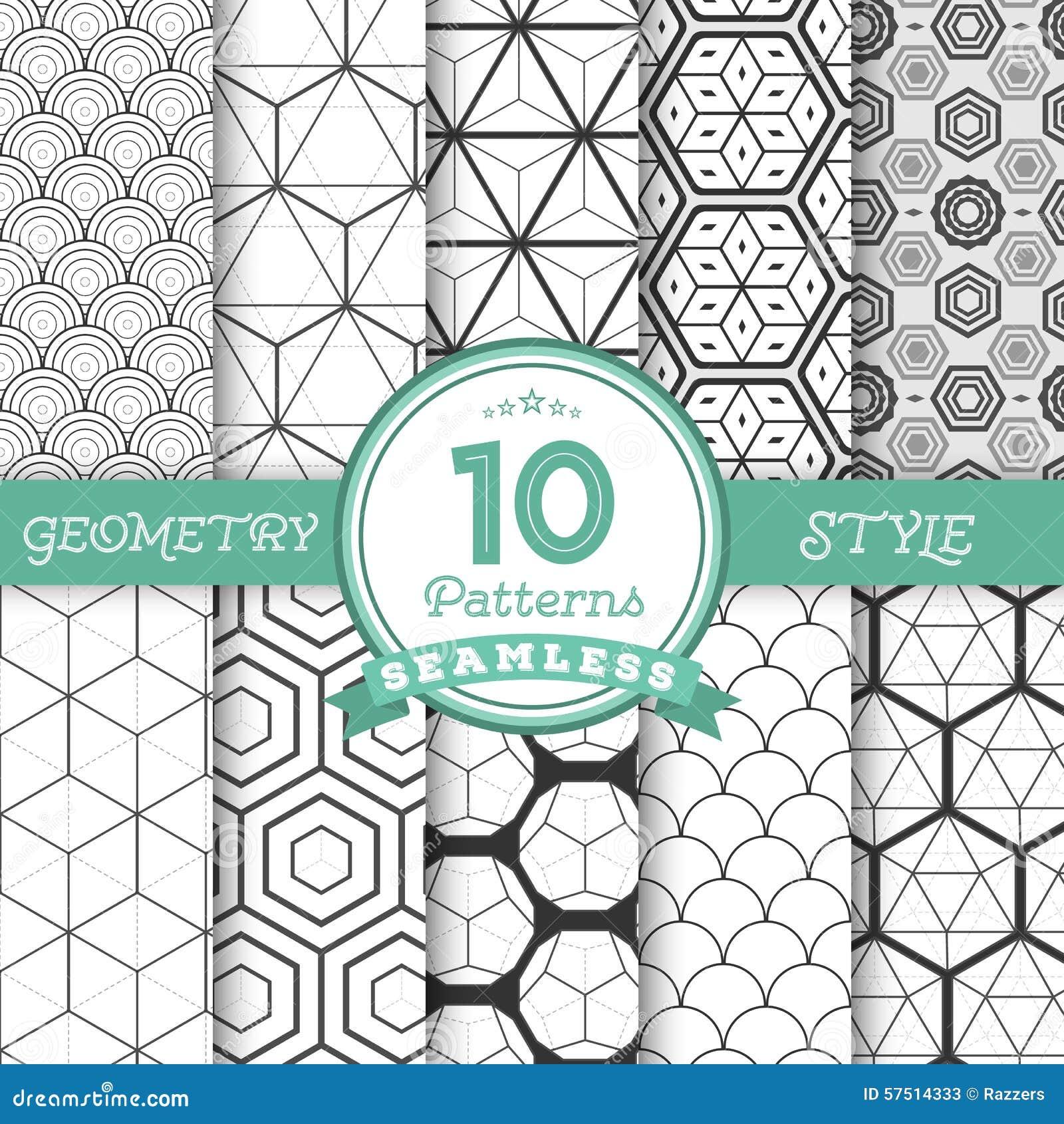 El sistema de 10 líneas geométricas inconsútiles del vector modela los fondos FO