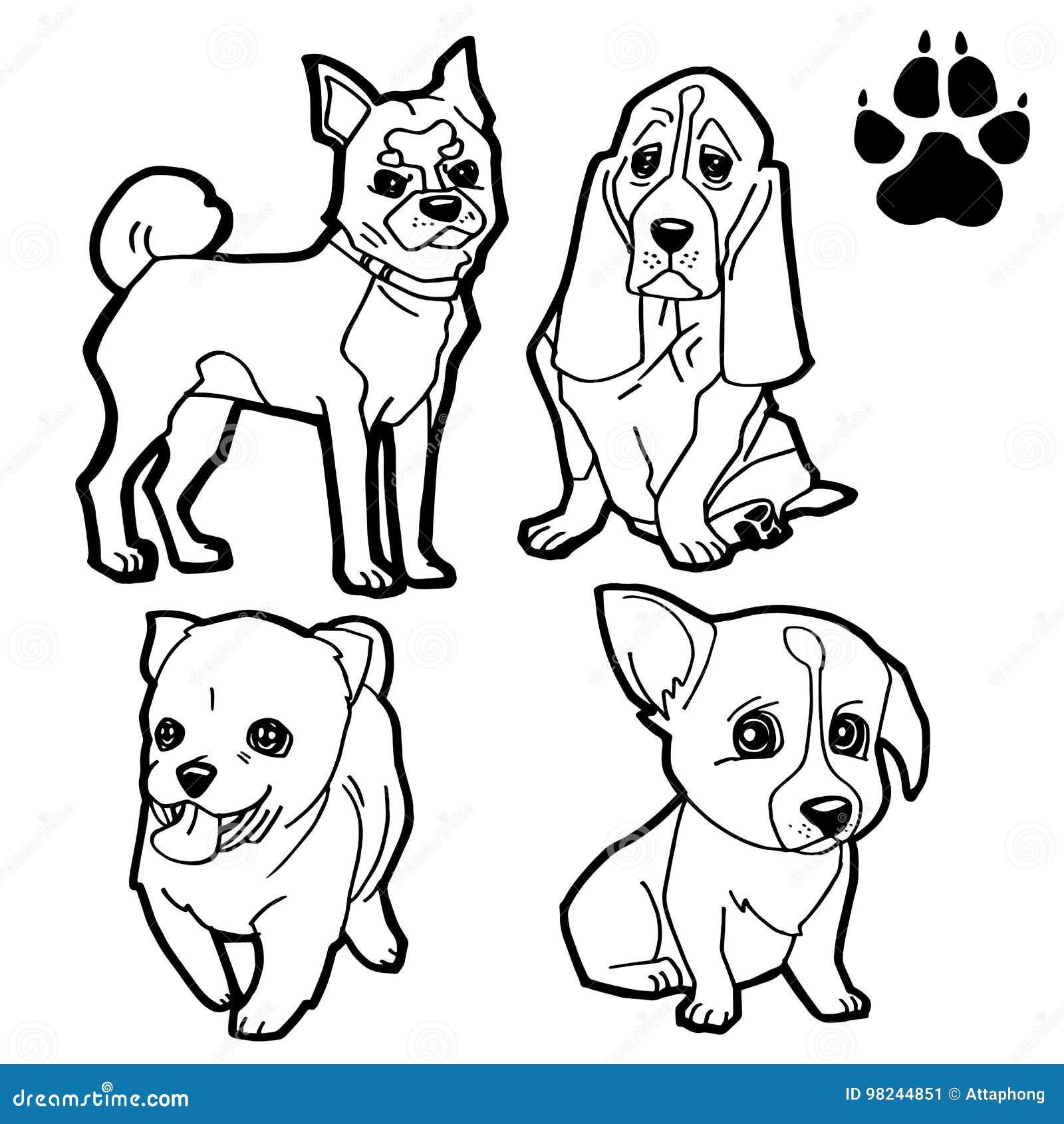 El Sistema De La Historieta Del Perro Y La Pata Del Perro Imprimen ...