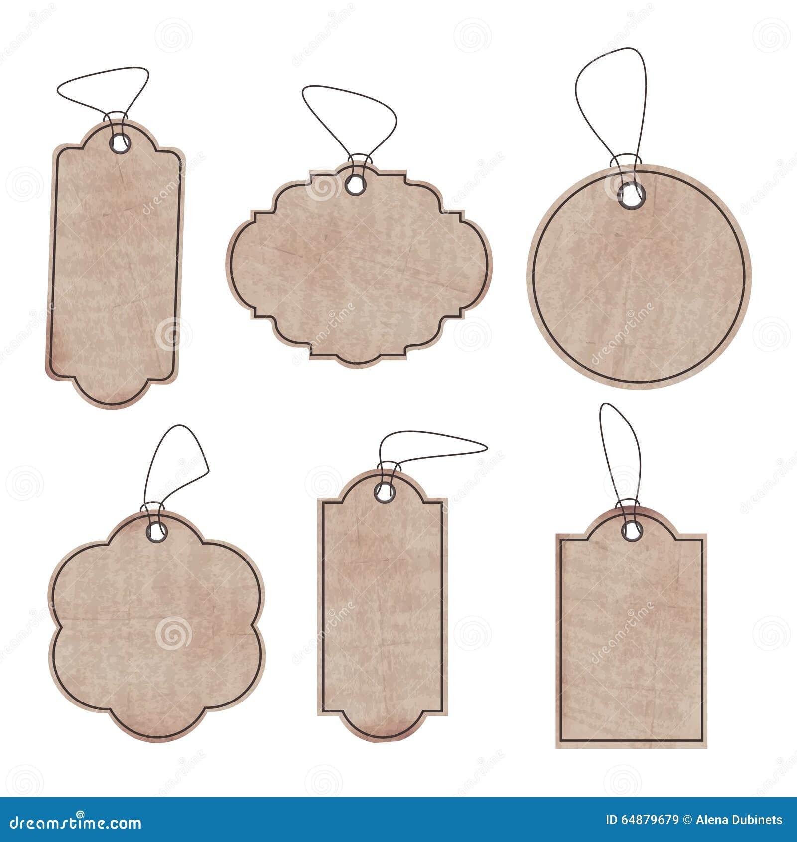 El sistema de las viejas etiquetas de papel limpias para for Diseno de etiquetas