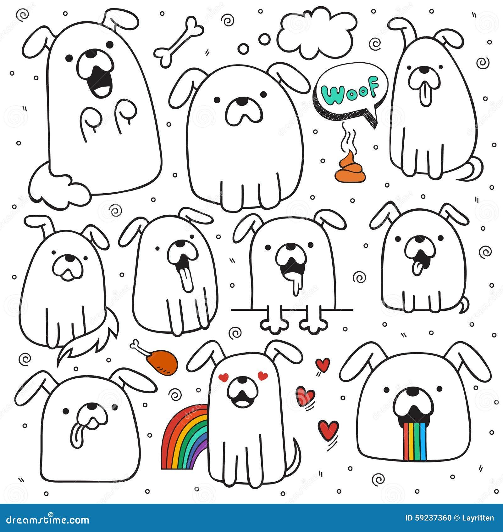 Download El Sistema De 10 Perros Garabatea Hecho A Mano Perros Con Emociones Ilustración del Vector - Ilustración de casta, perro: 59237360