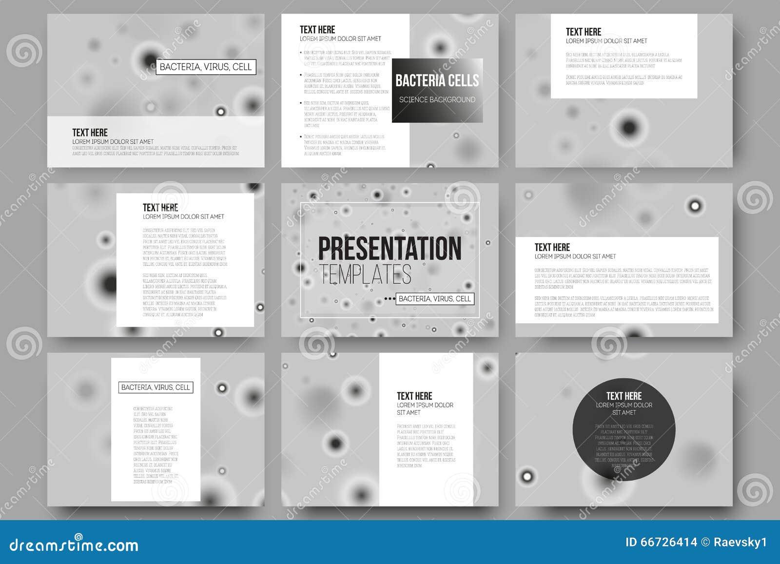 El Sistema De 9 Plantillas Del Vector Para La Presentación Resbala ...