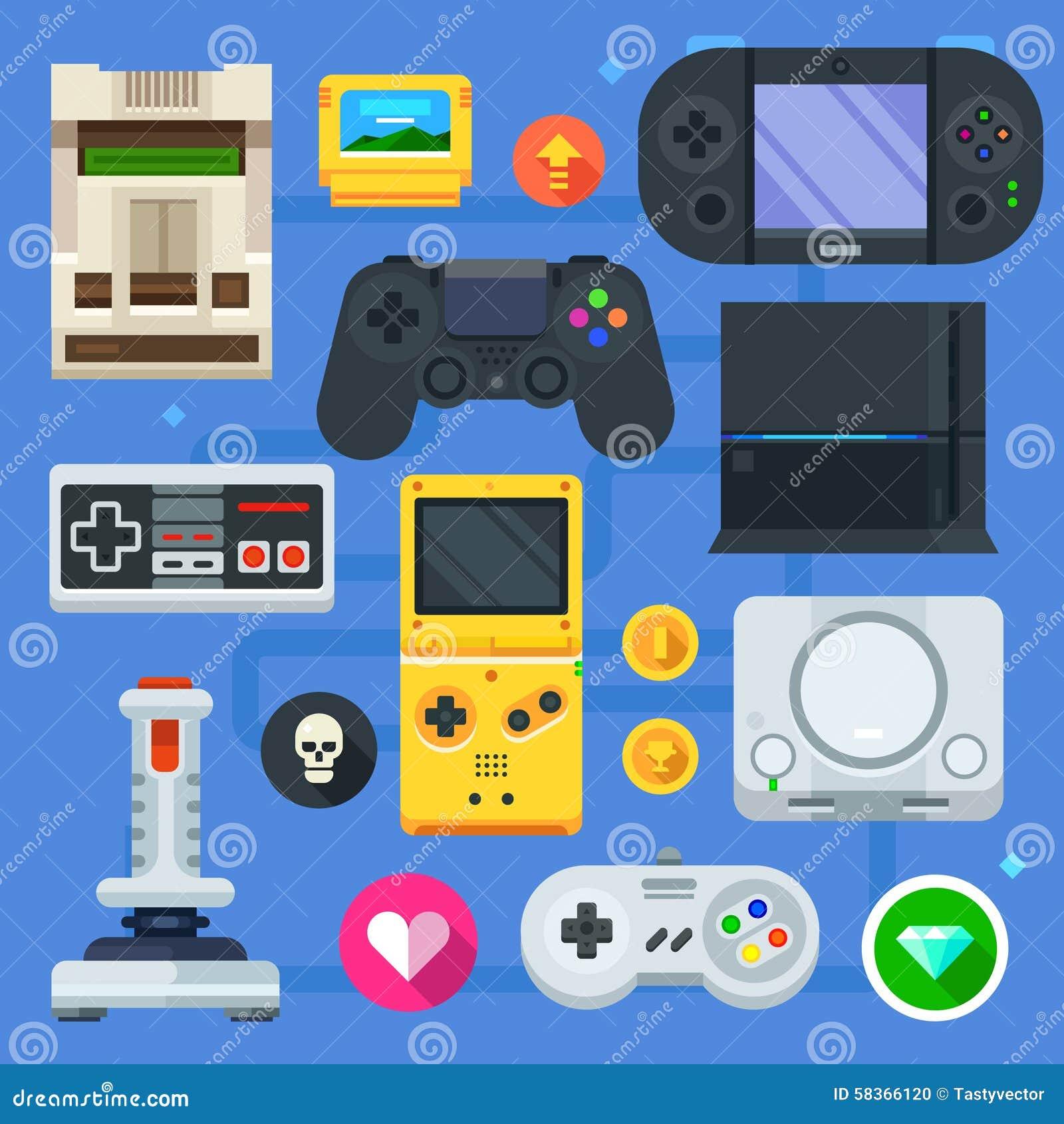 El sistema del icono del videojugador