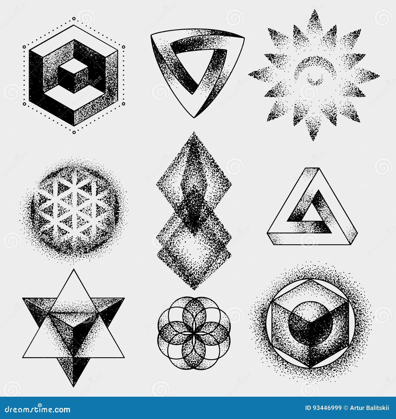 El Sistema Del Tatuaje Imposible Y Otro Forma Dotwork Blackwork