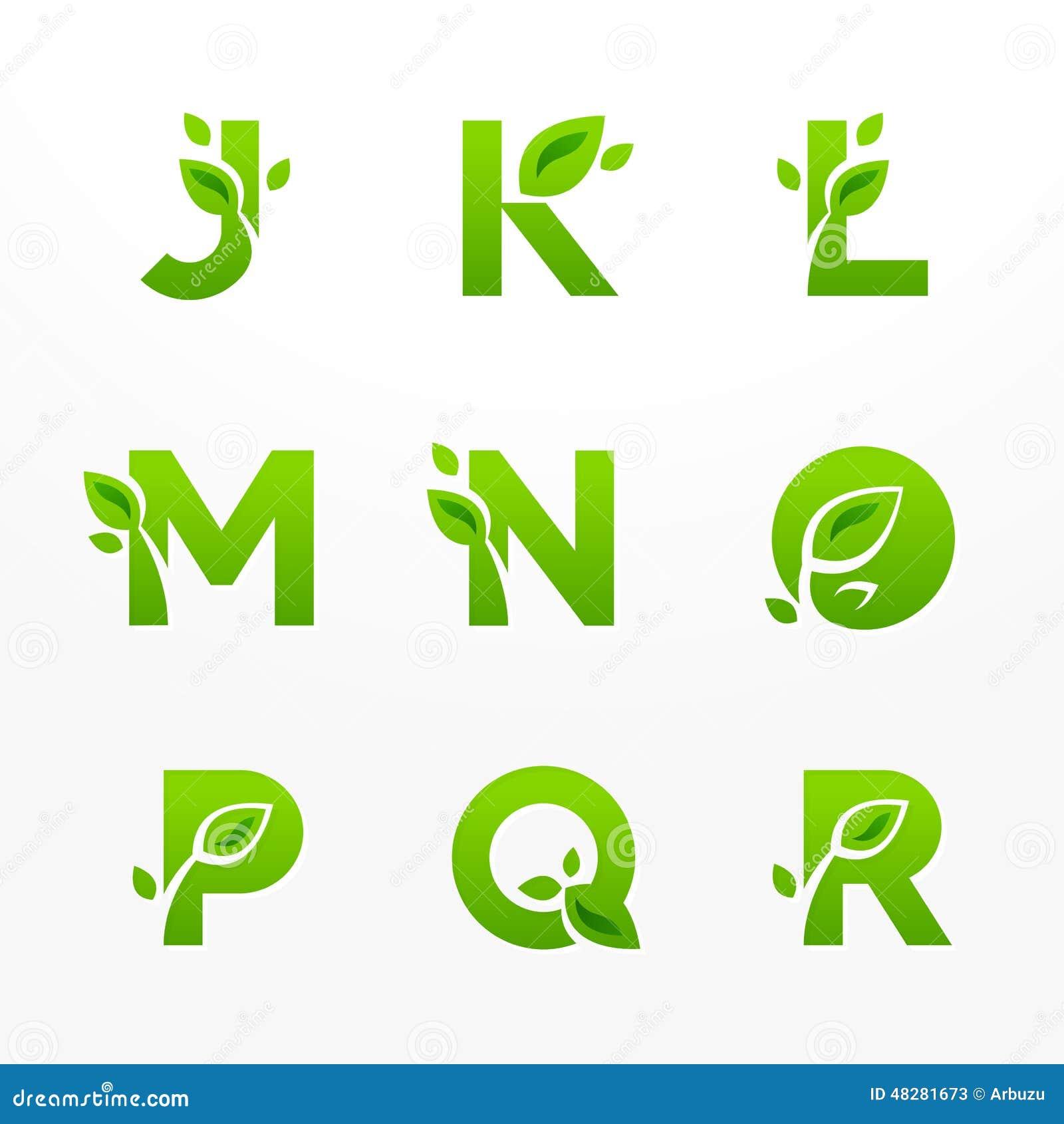 el sistema del vector de eco verde pone letras al logotipo