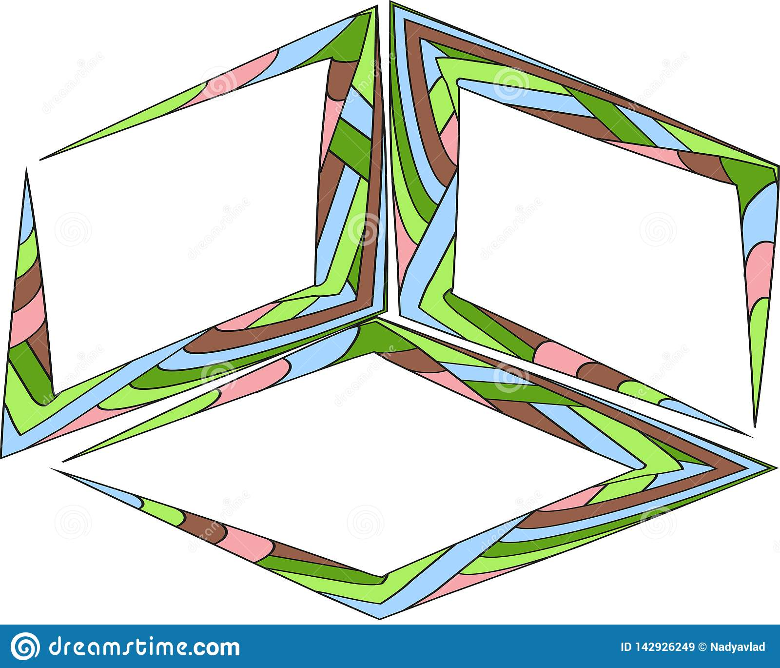 El sistema del vector de la cita forma la plantilla Fondos brillantes coloridos Marco traslapado del cepillo de la acuarela Burbu