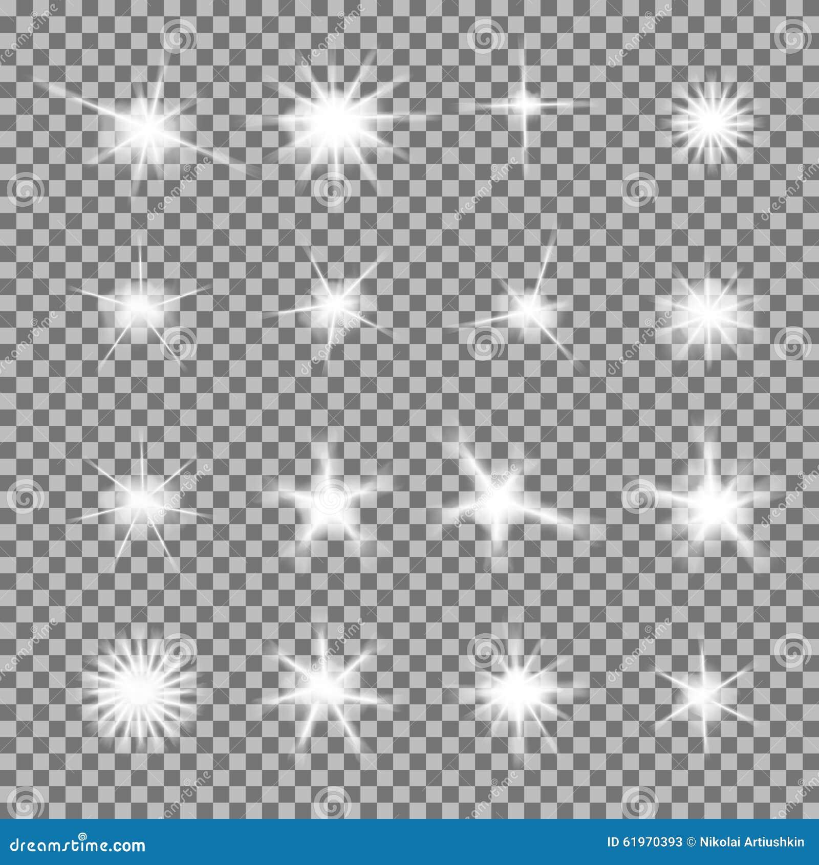 El sistema del vector de luz que brilla intensamente estalla con las chispas