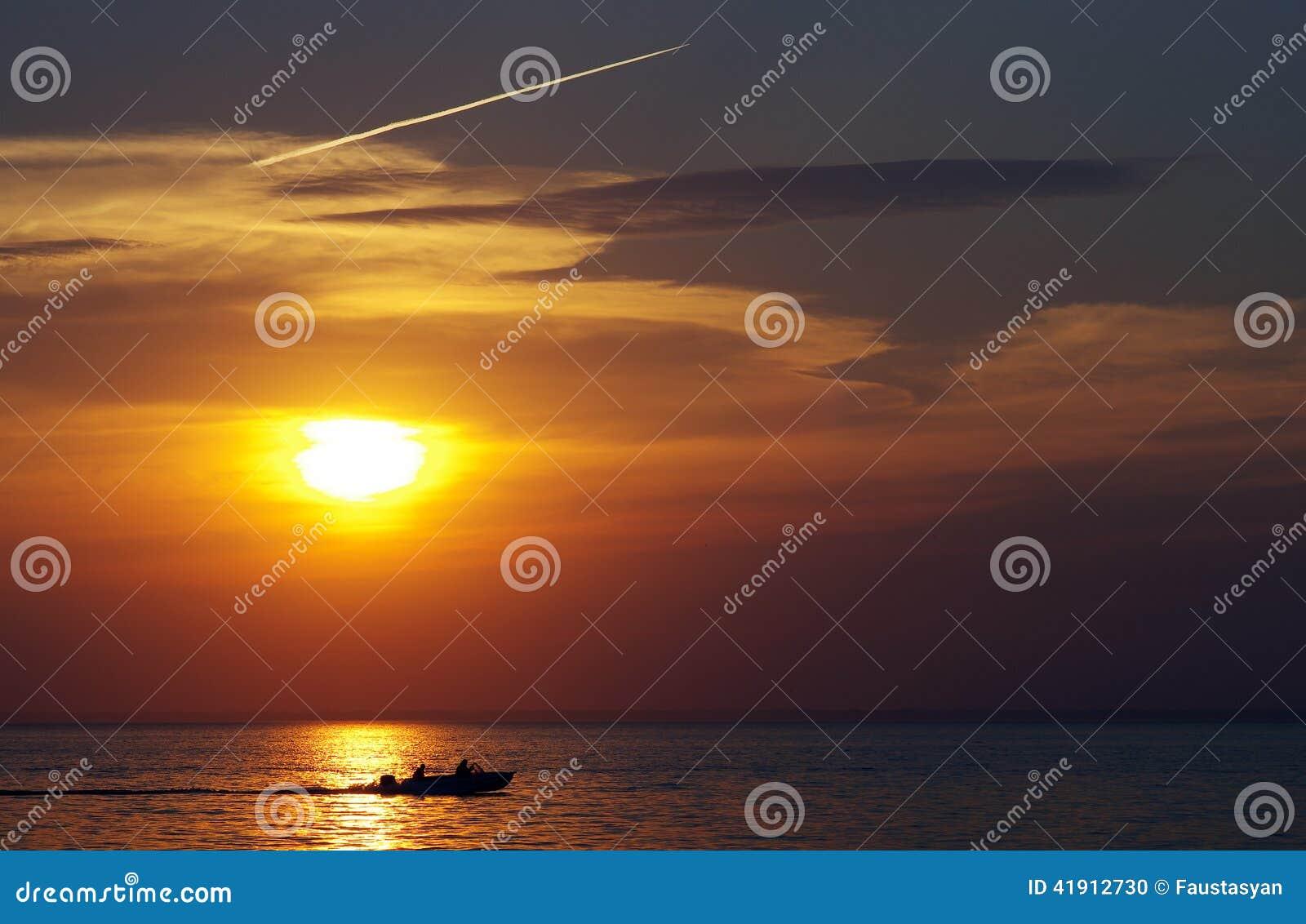 El sol poniente