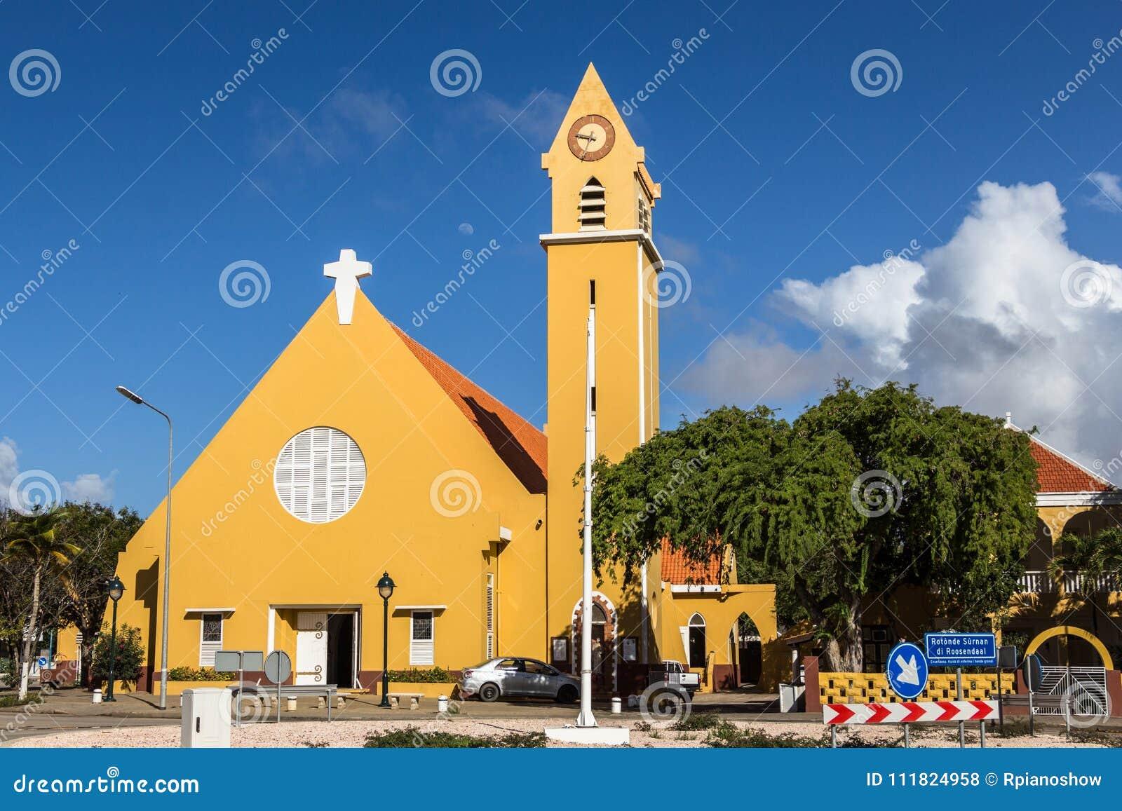 El St Bernard Church, una iglesia católica romana en Kralendijk