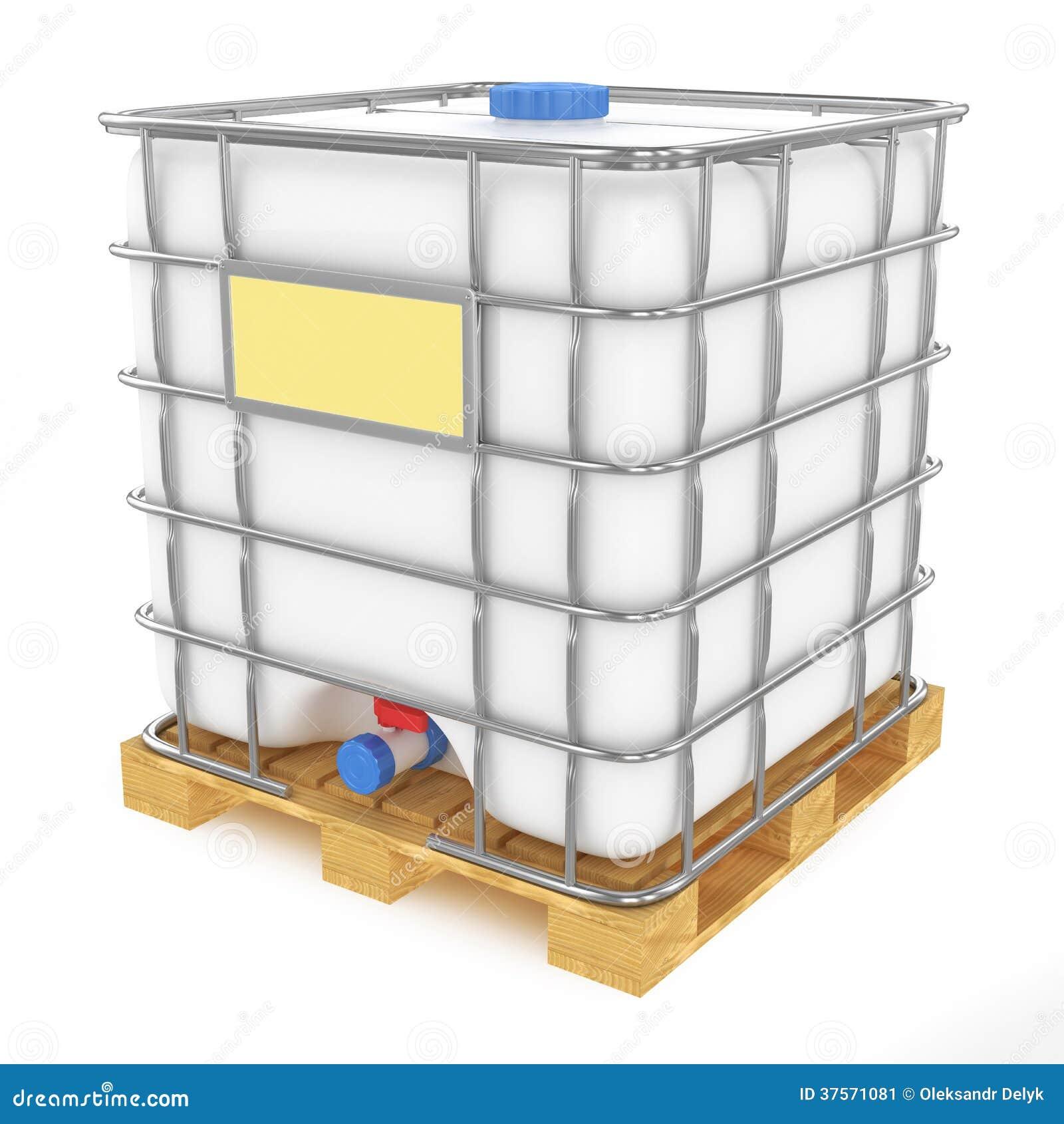 El tanque de agua pl stico en el fondo blanco stock de for Piscicultura en tanques plasticos