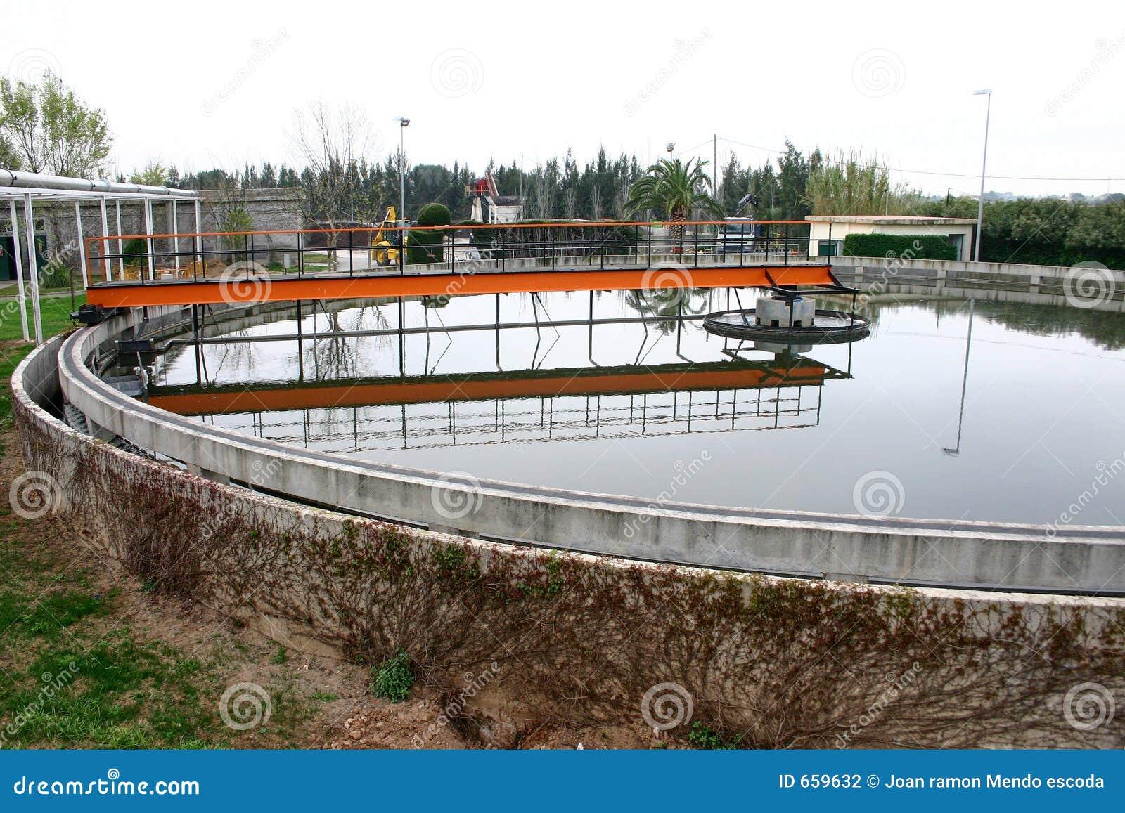 El tanque de la floculación