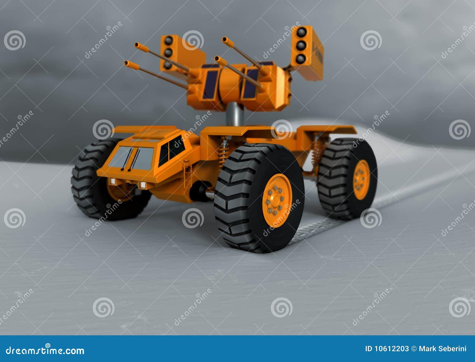 El tanque del juguete en la nieve