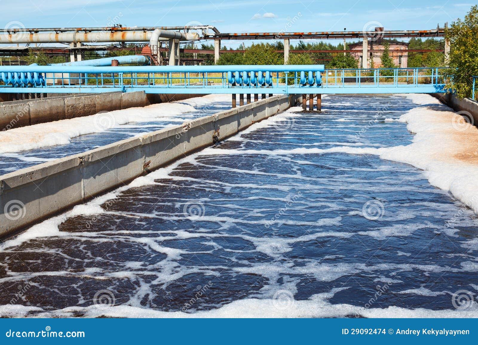El tanque del tratamiento de aguas con proceso de la - Tratamientos de agua ...