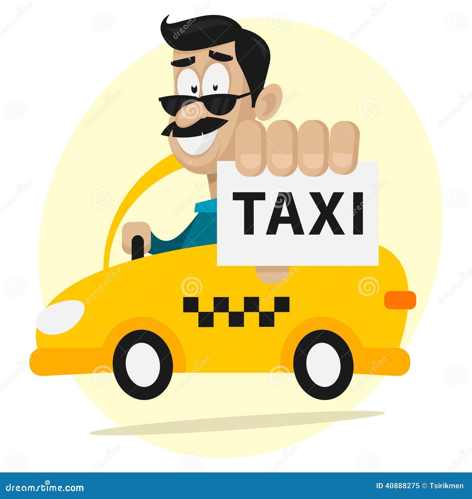 El Taxista Se Mueve El Coche Y Sonriendo Ilustraci 243 N Del
