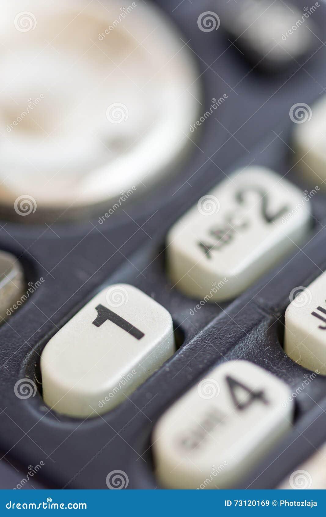 El teléfono macro del primer marca números