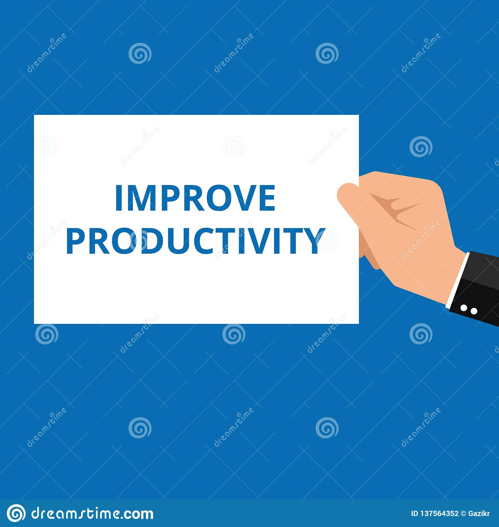 El texto mejora productividad