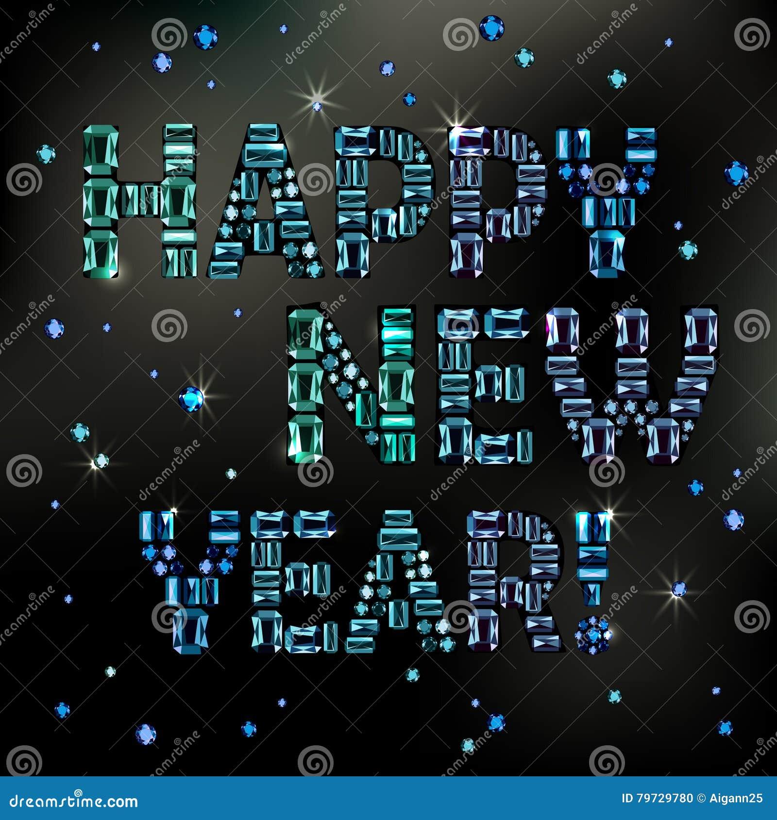 El texto se hace de cristales