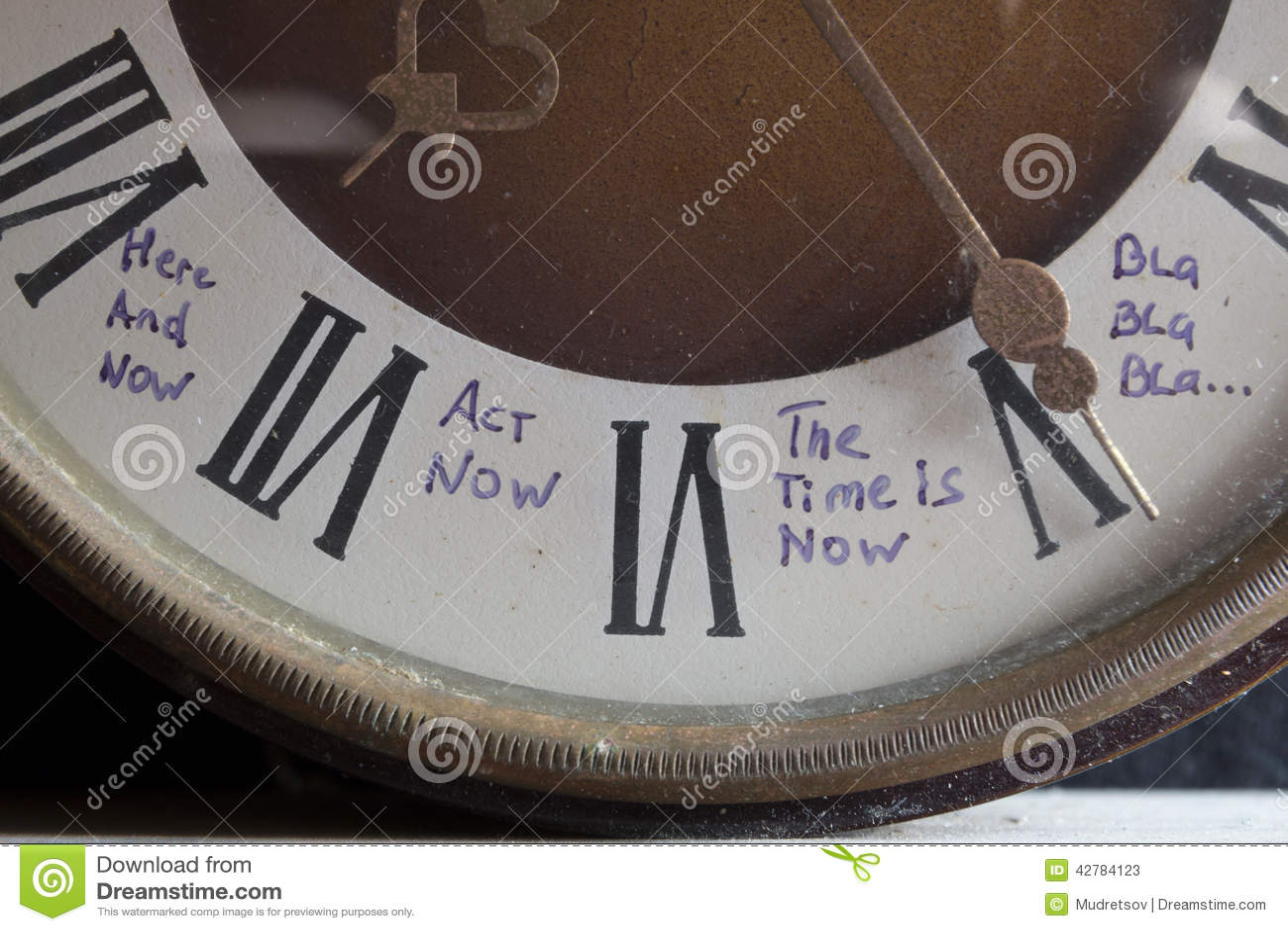 El tiempo ahora está