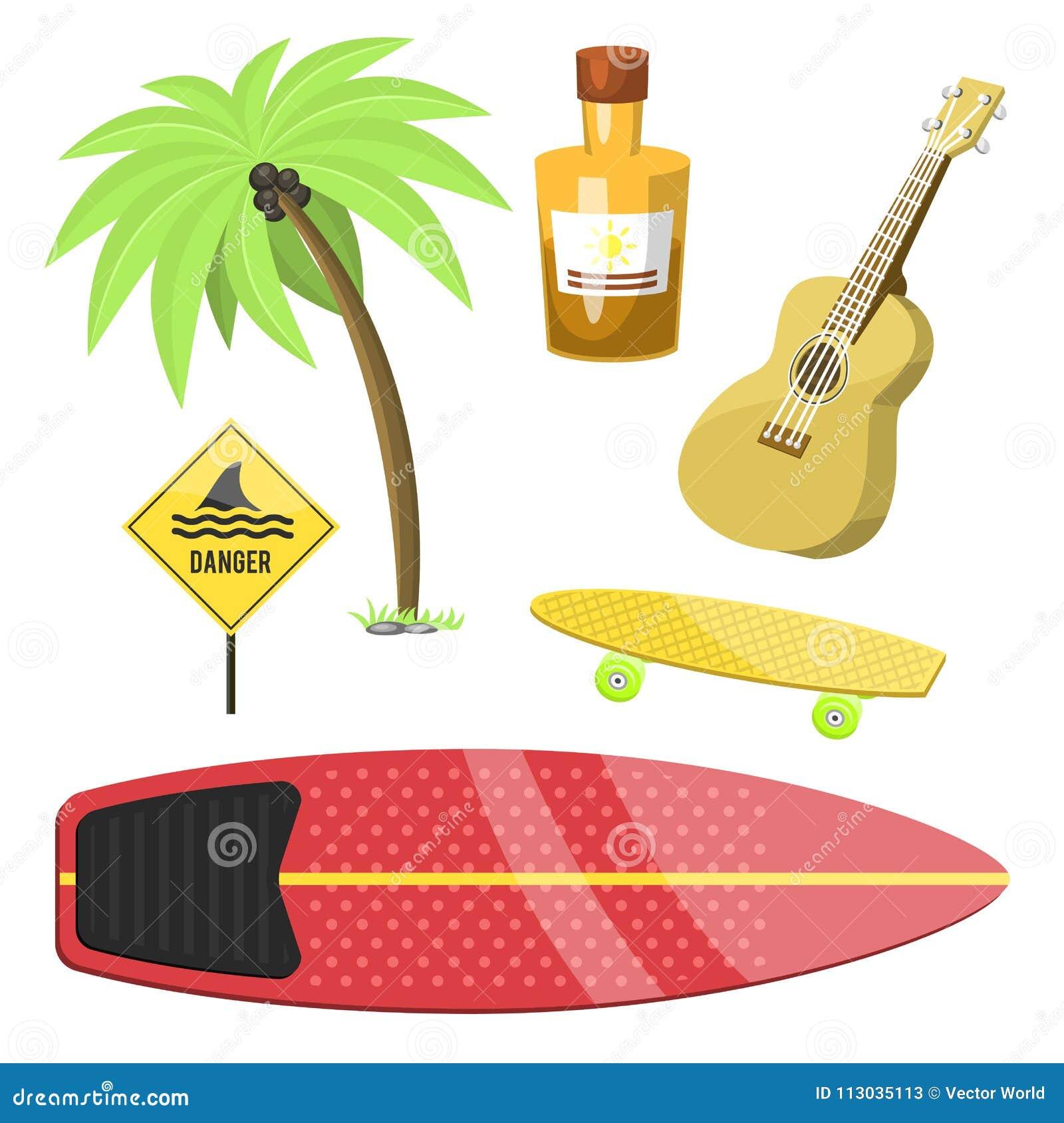 El tiempo de verano activo de la persona que practica surf del deporte acuático que practica surf vara vector kitesurfing wakeboa