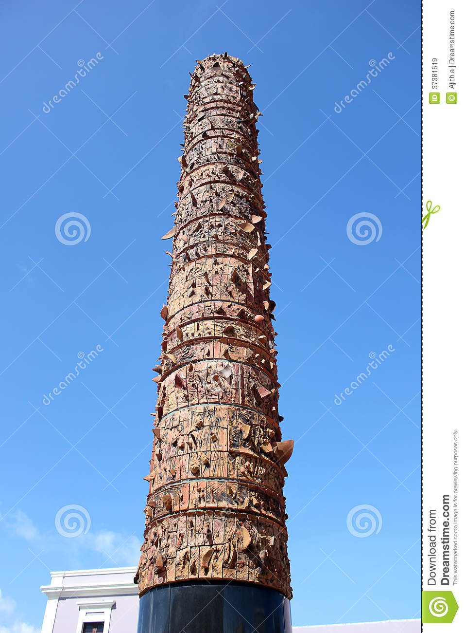 el totem teluric monument royalty free stock images clip art palm trees and beach clip art palm tree plan view