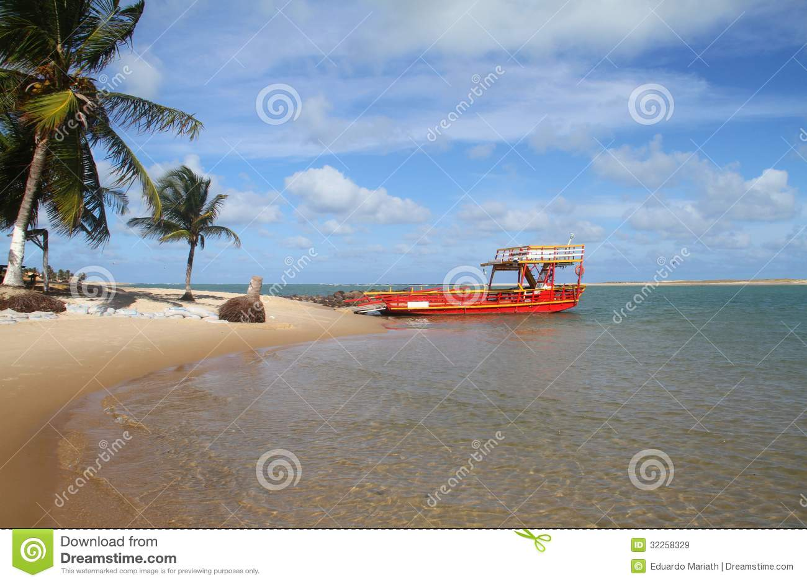 El transbordador rojo - Sibauma - Barra hace Cunhaú - Pipa de DA del Praia