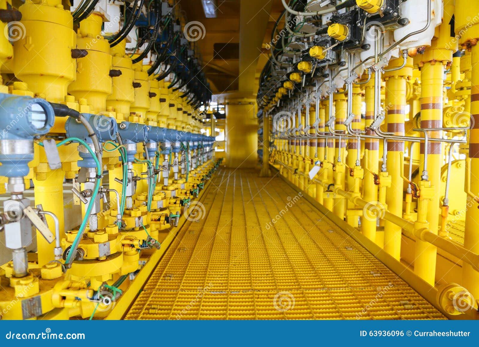 El transmisor de presión en proceso del petróleo y gas, envía la señal a la presión en el sistema, transmisor del regulador y de