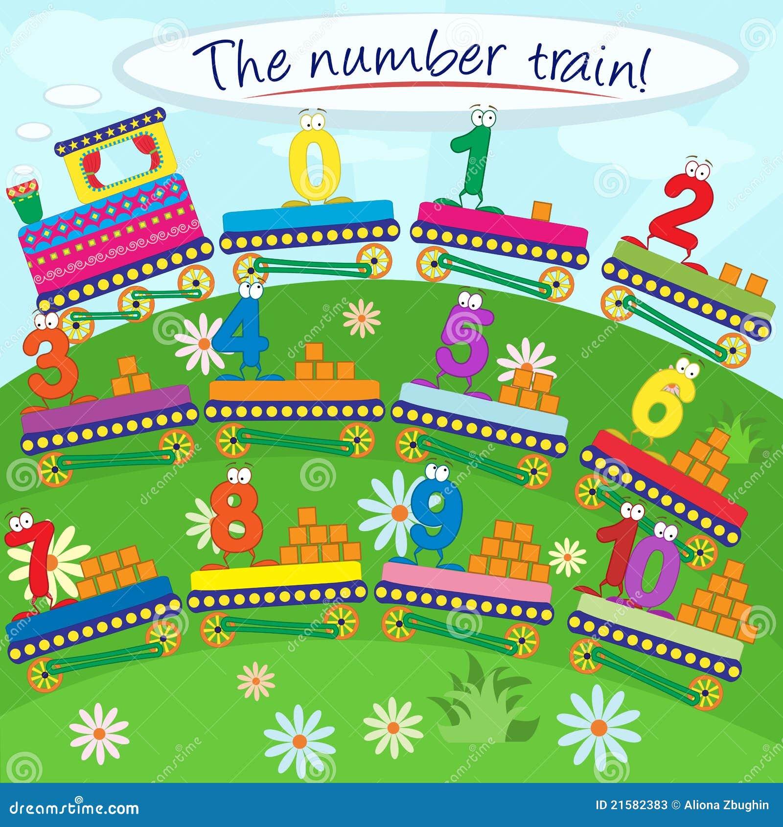 10: El Tren Del Número Ilustración Del Vector. Ilustración De